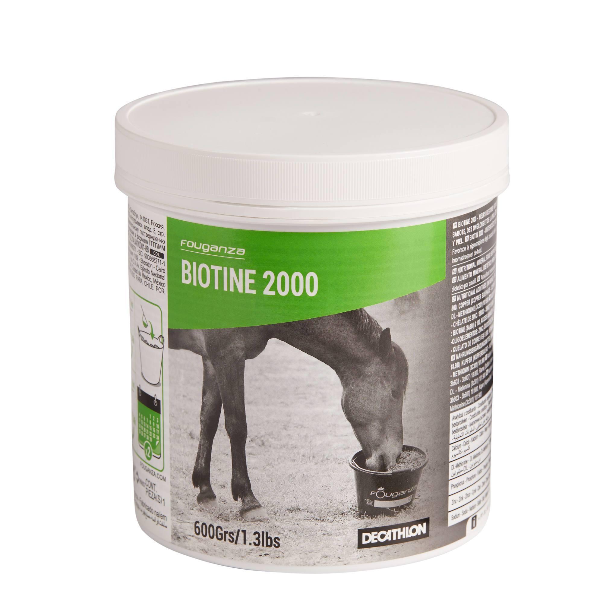 Complément alimentaire pour chevaux et poneys BIOTINE - 600grs