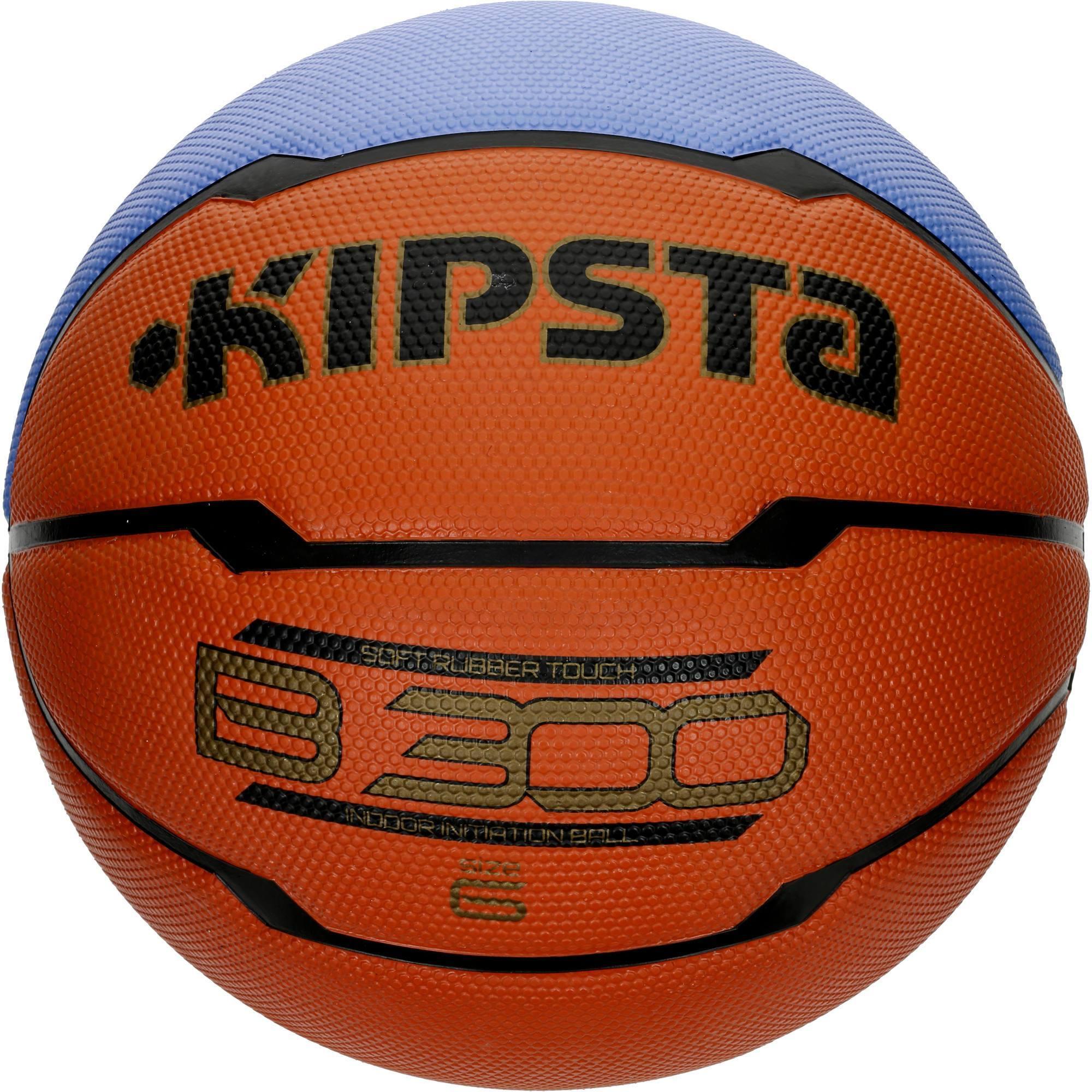 Ballon de basket femme b300 taille 6 orange pour d buter a partir de 10 ans clubs - Ballon basket decathlon ...