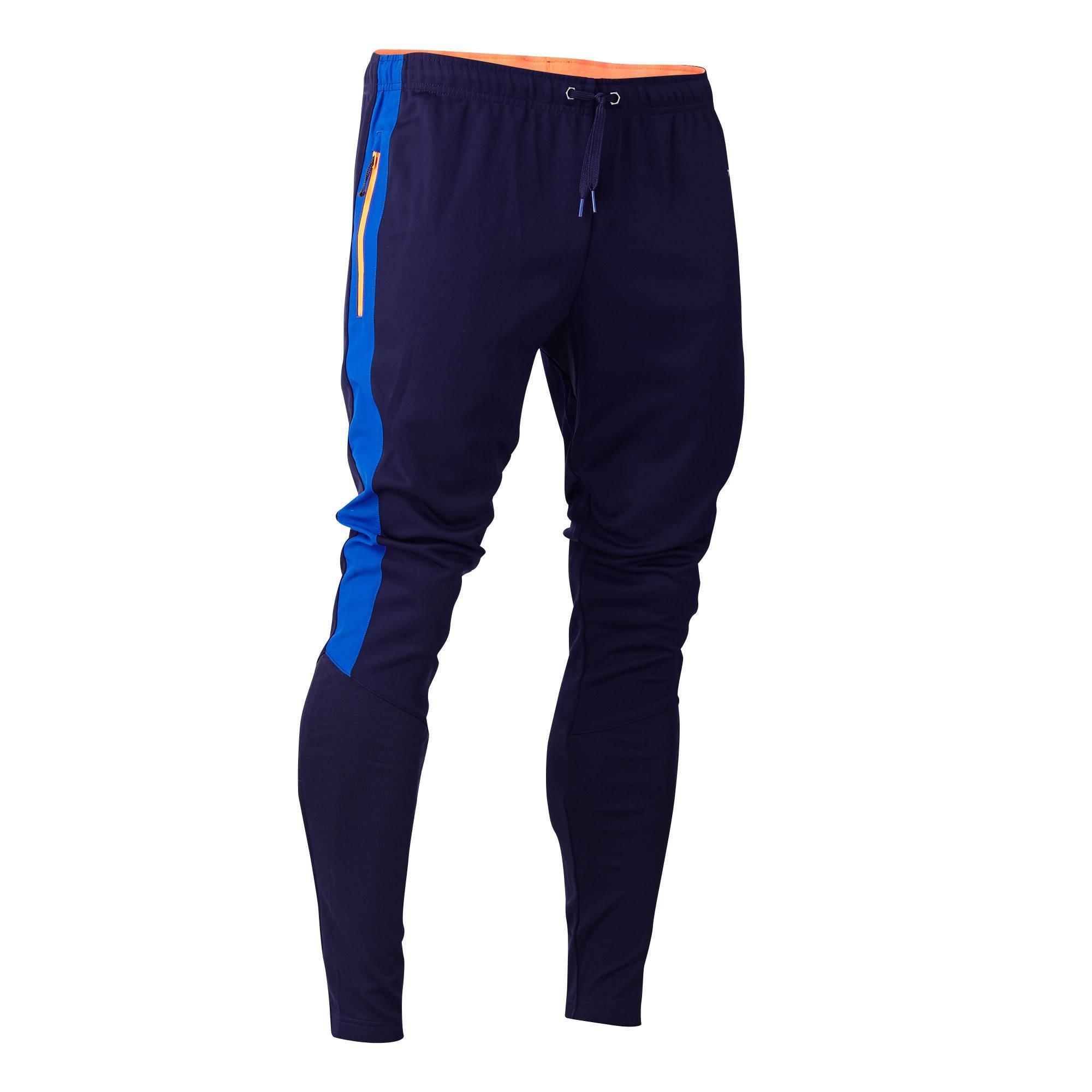 Pantalon de football adulte T500 bleu marine