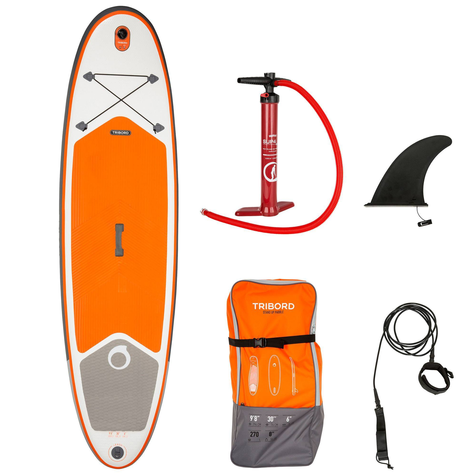SUP STAND UP PADDLE GONFLABLE 9'8 orange