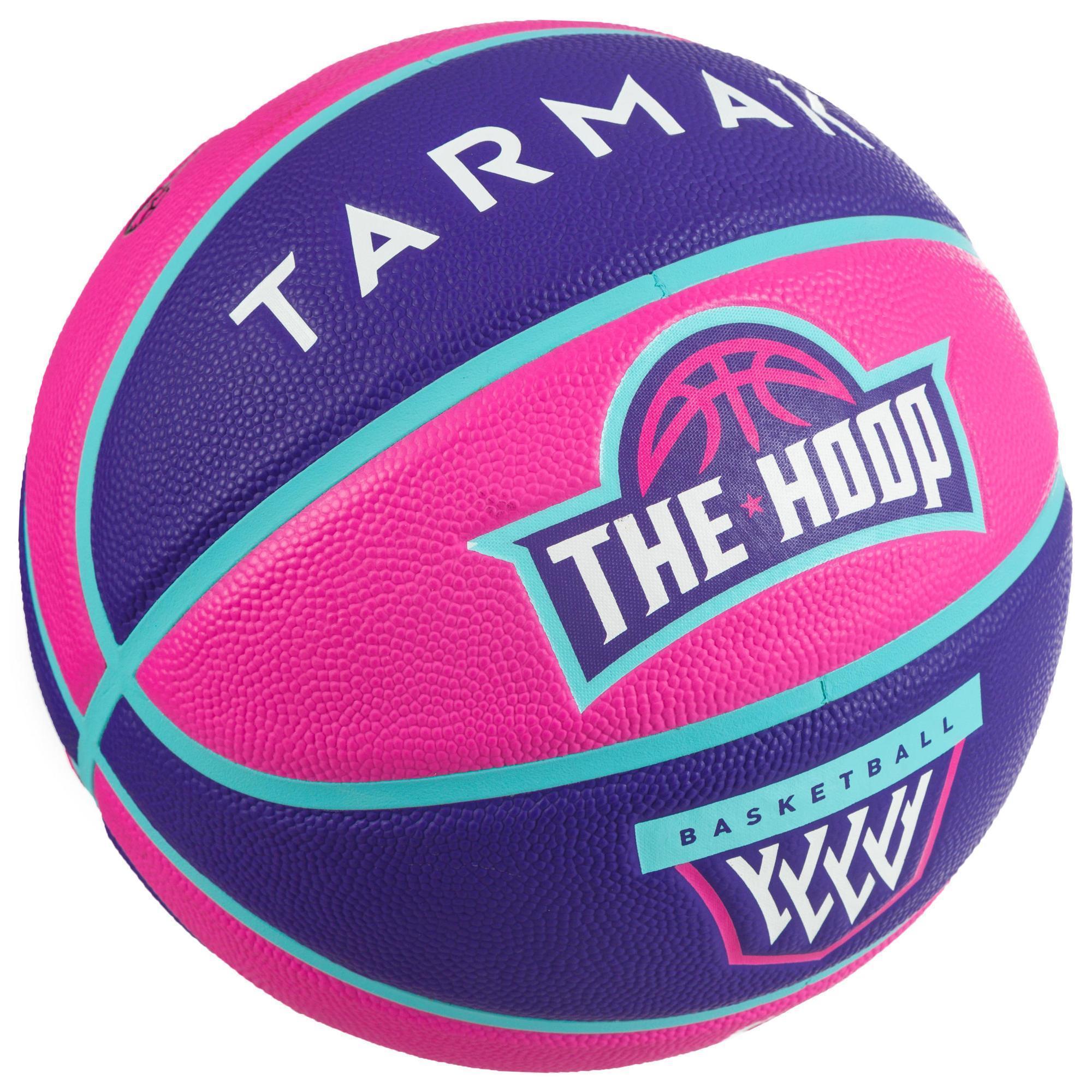 ba401957c0a5d Ballon de basket enfant Wizzy blason rose violet taille 5. - Clubs ...