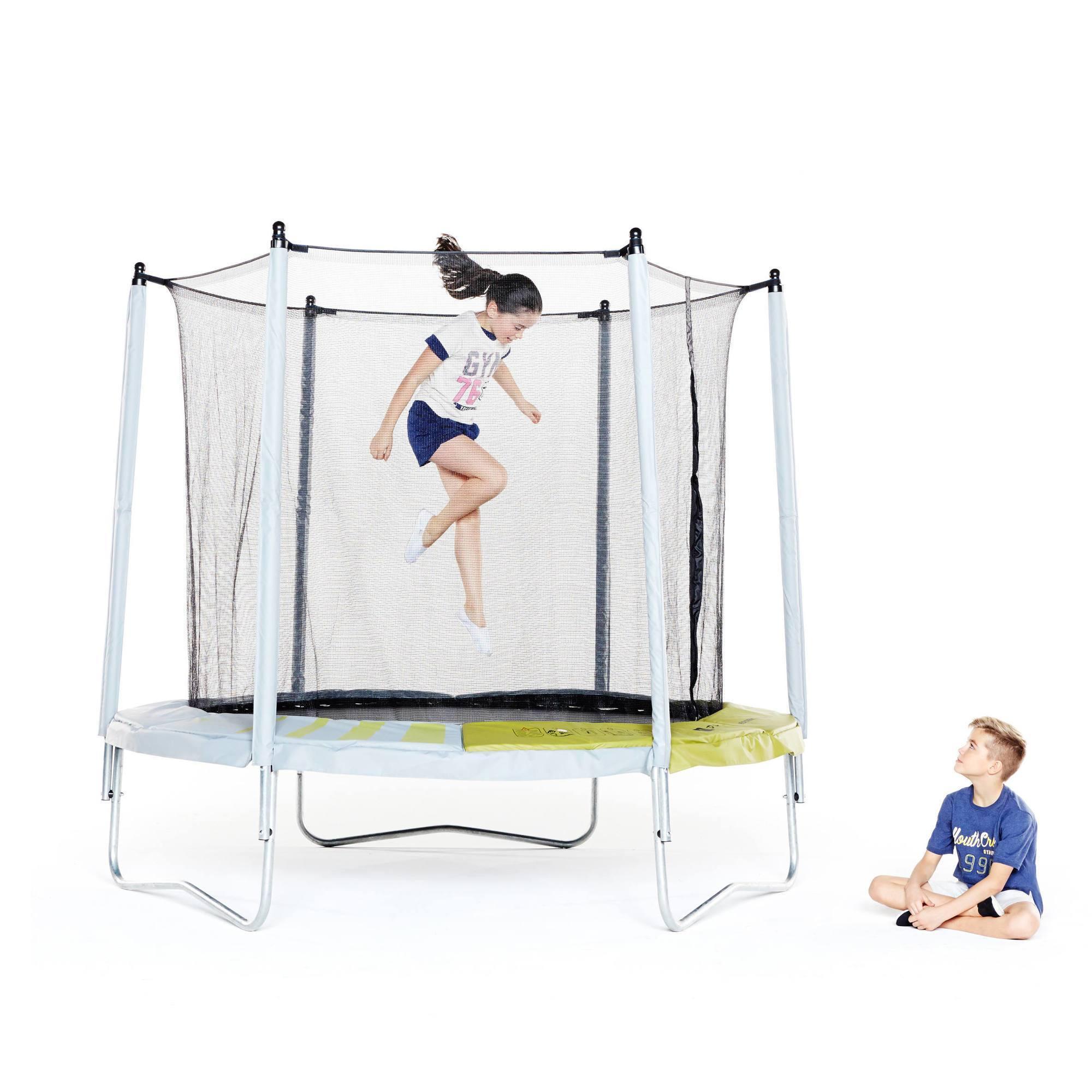 Trampoline essential 240 vert filet de protection - Filet pour trampoline decathlon ...