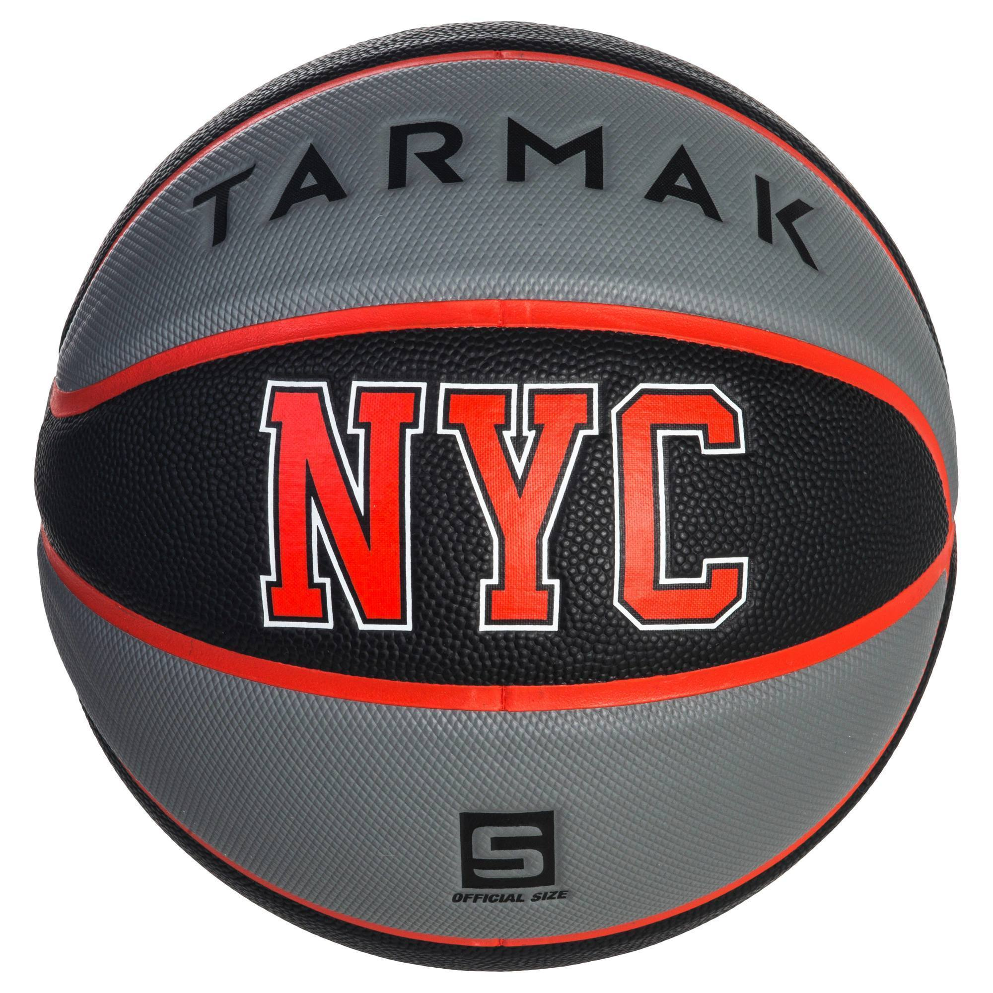 Ballon de basket enfant Wizzy NYC noir gris taille 5. Jusqu'à 10 ans.