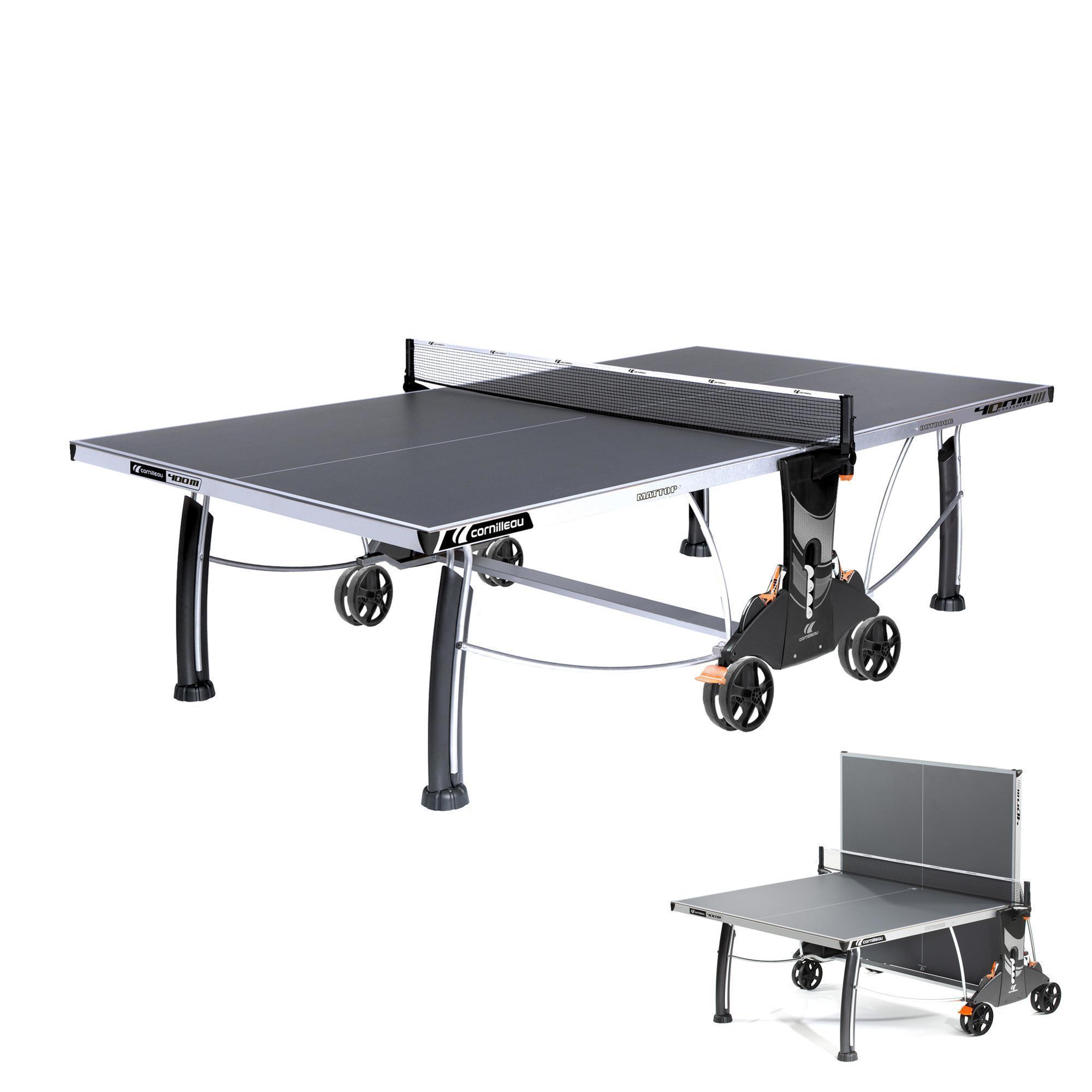 TABLE DE TENNIS DE TABLE FREE CROSSOVER 400S OUTDOOR GRISE