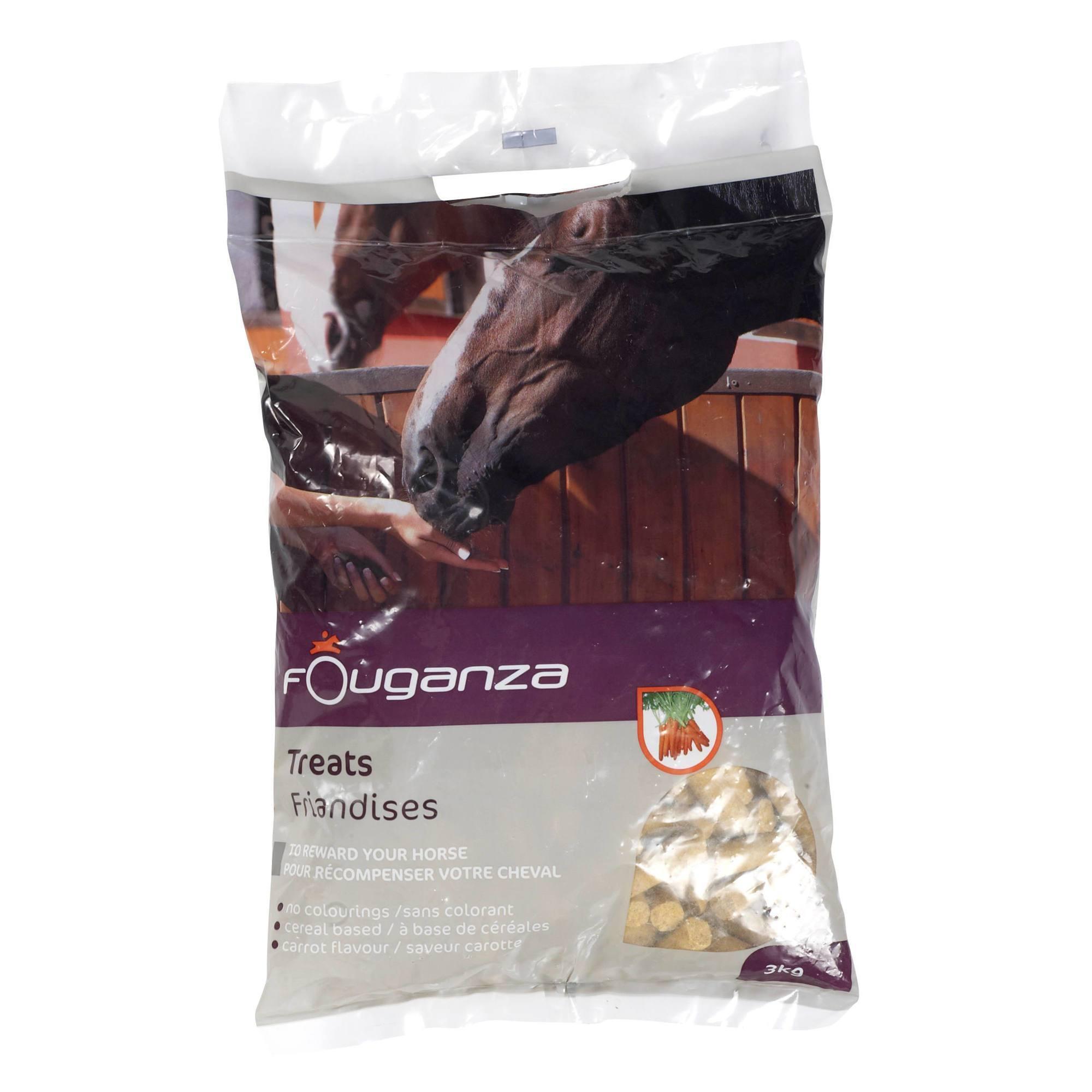 Friandises équitation cheval et poney FOUGATREATS carotte - 3 KG