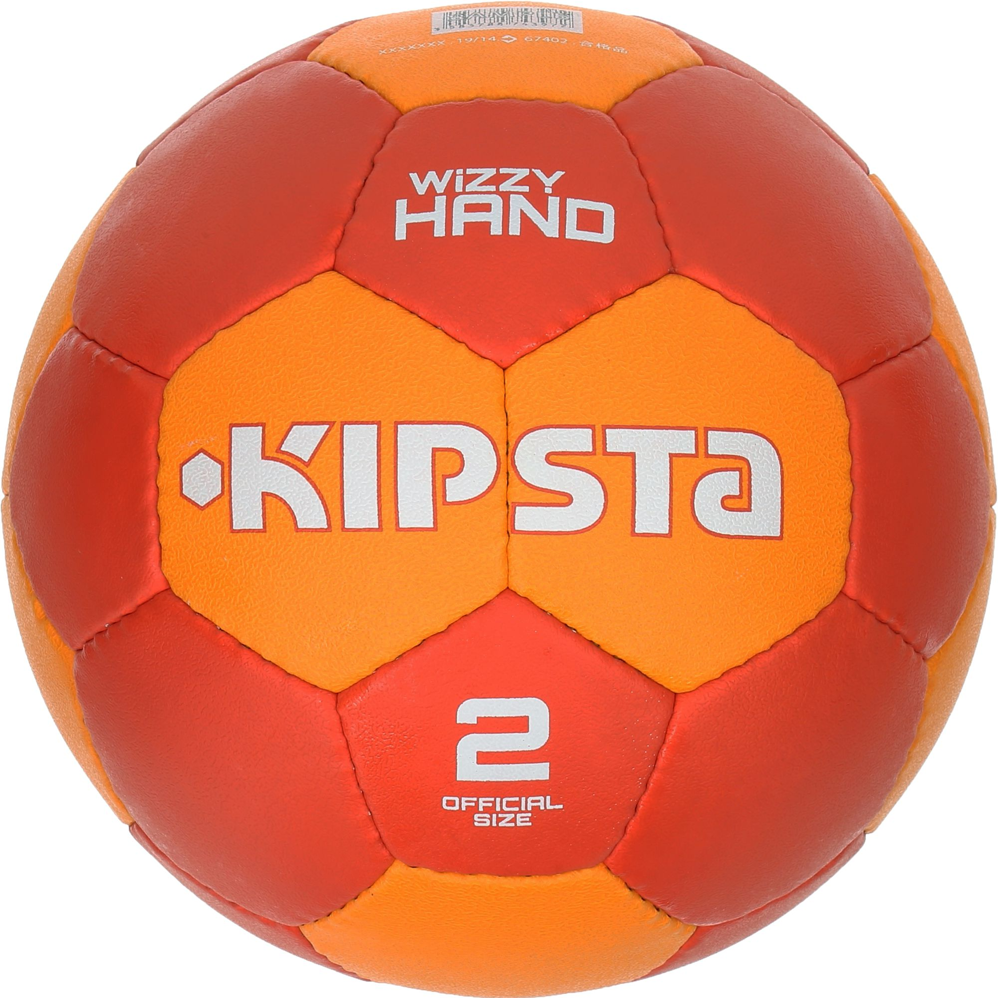 Ballon handball adulte Wizzy Hand taille 2 rouge orange