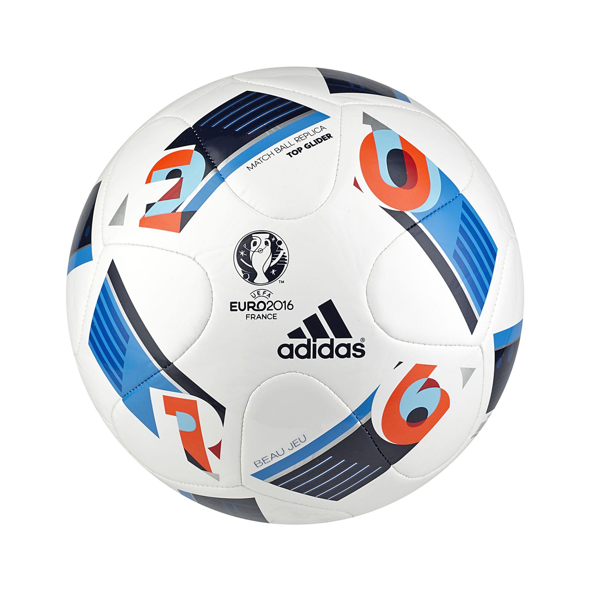 BALLON FOOTBALL OFFICIEL TOP GLIDER EURO 2016 BLANC