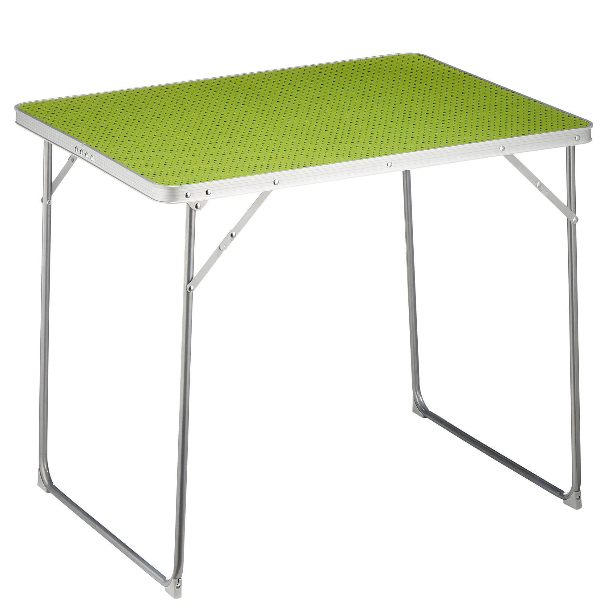 Mobilier camping table 4 personnes vert