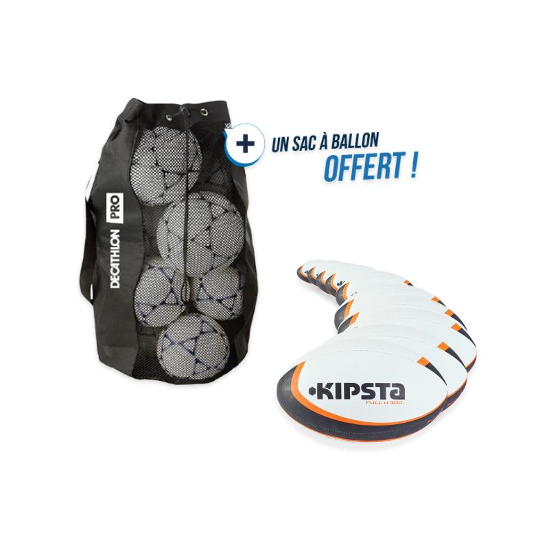 Kit 10 ballons rugby R300 taille 5 avec sac offert