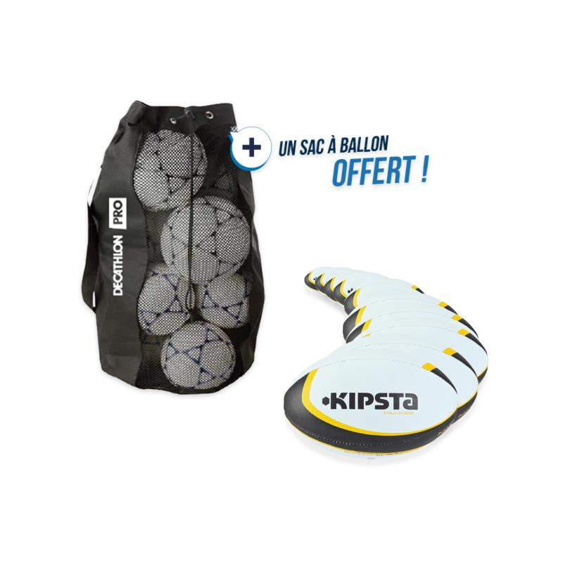 Kit 10 ballons rugby R300 taille 3 avec sac offert