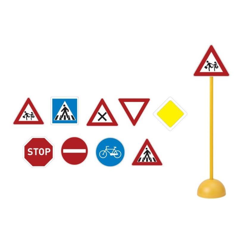 lot de 9 panneaux de signalisation routière