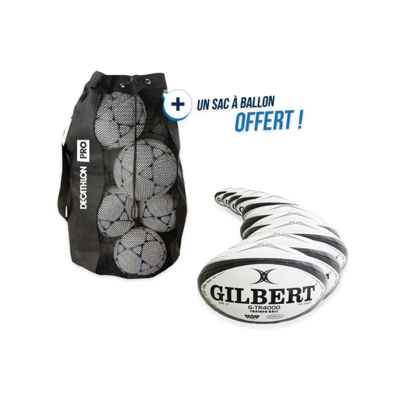 kit 10 ballons rugby g-tr4000 taille 5 avec sac offert