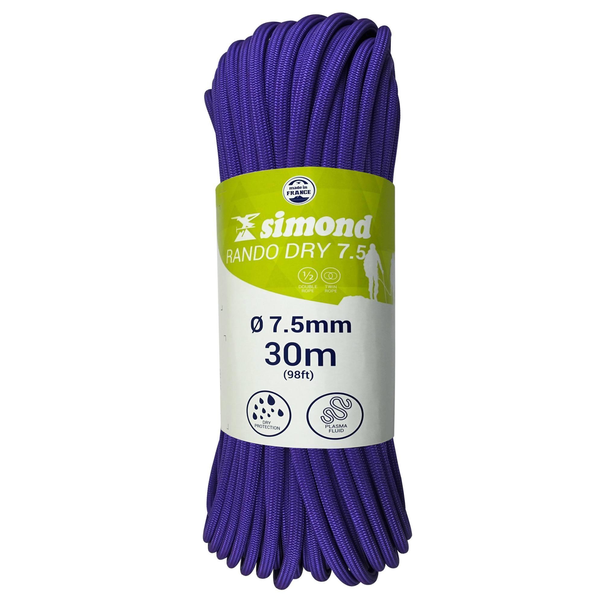 CORDE RANDO DRY 7.5mm x 30m violette
