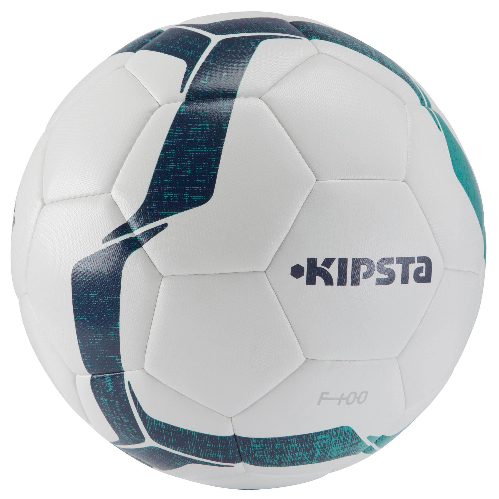 Ballon football F100 Hybride taille 4 blanc vert