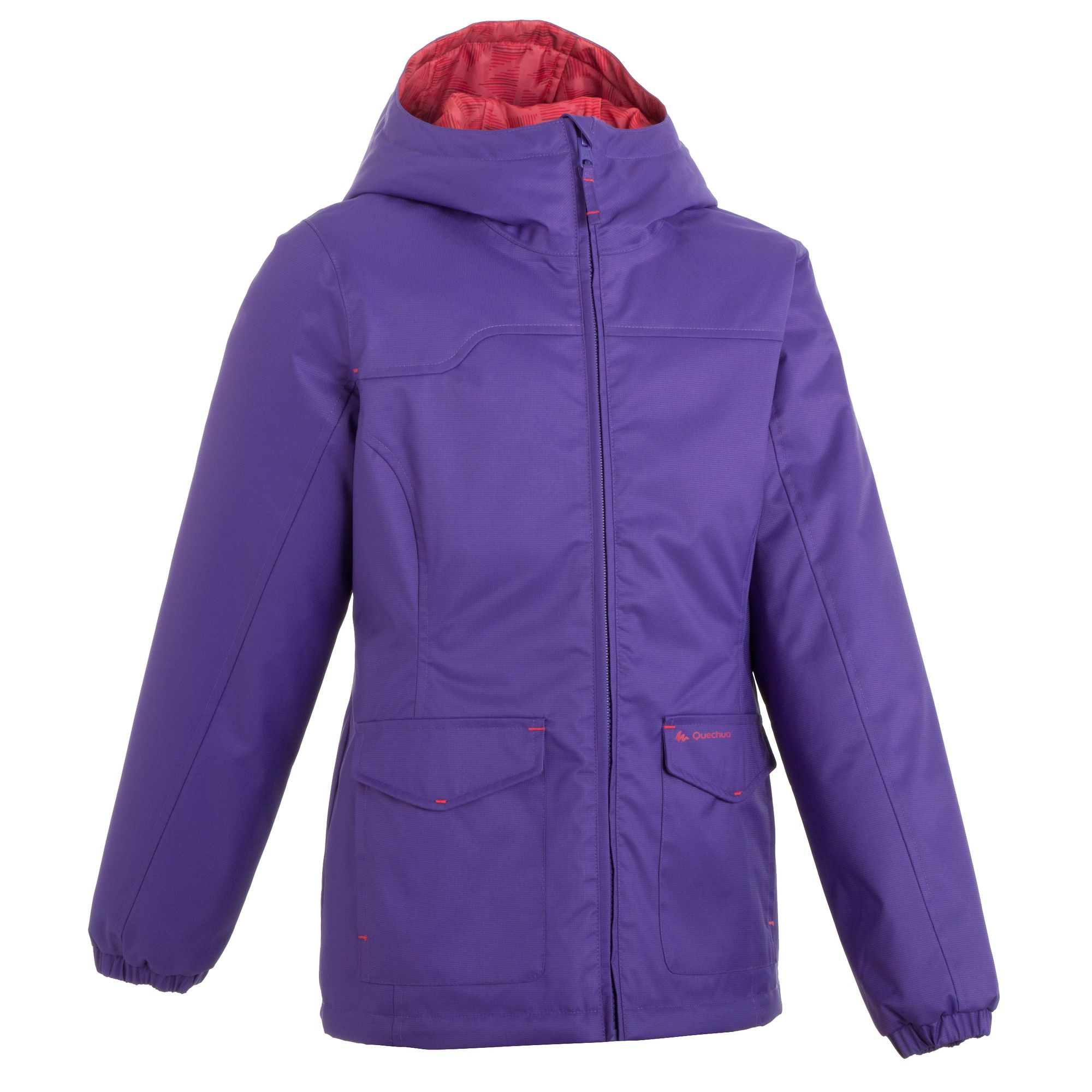 veste chaude imperm able randonn e fille hike 100 violet. Black Bedroom Furniture Sets. Home Design Ideas