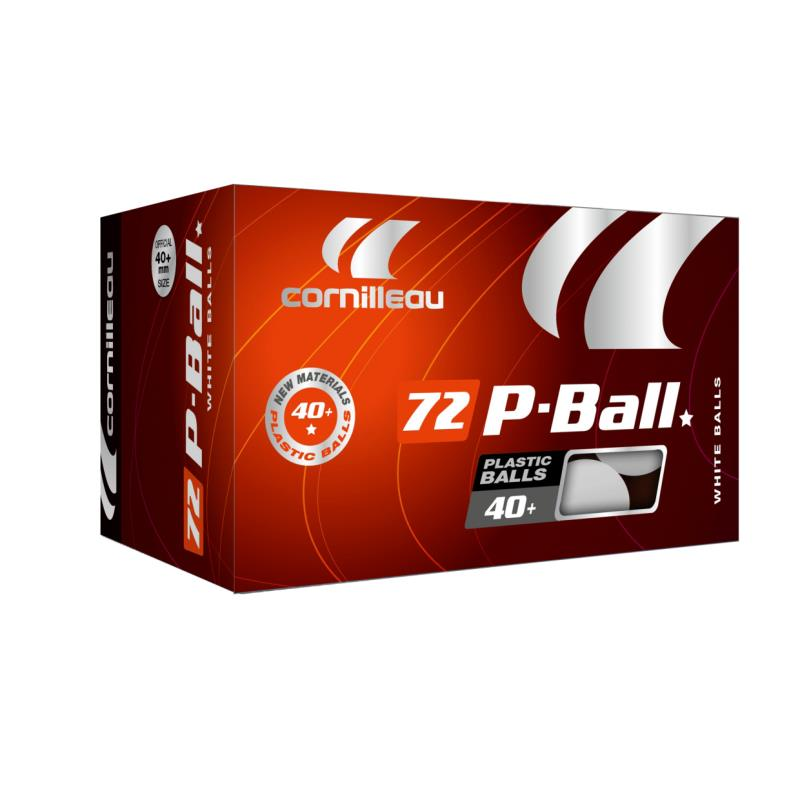 LOT DE 72 BALLES TENNIS DE TABLE PLASTIQUE P-BALL CORNILLEAU