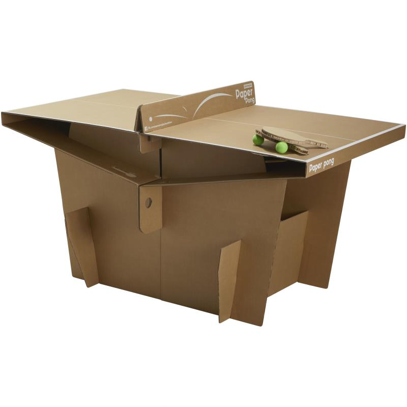 Table de ping pong en carton paper pong clubs - Table de ping pong exterieur decathlon ...
