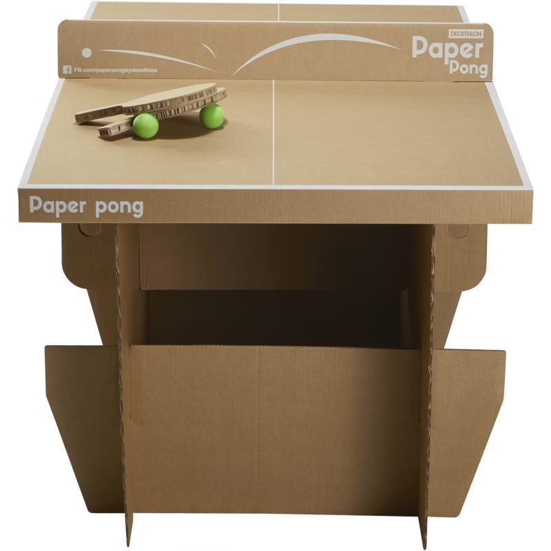 table de ping pong en carton paper pong clubs collectivit s decathlon pro. Black Bedroom Furniture Sets. Home Design Ideas