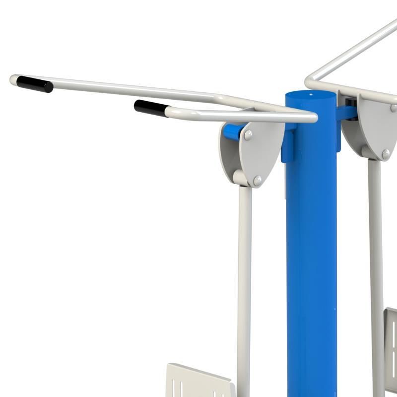 Dorsaux double module de fitness ext rieur clubs for Exterieur gym