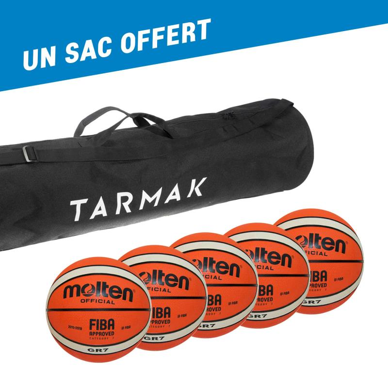 Lot de 5 ballons basket GR Molten   un sac offert - 5