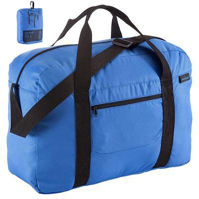Sac repliable Duffle 35L format cabine bleu