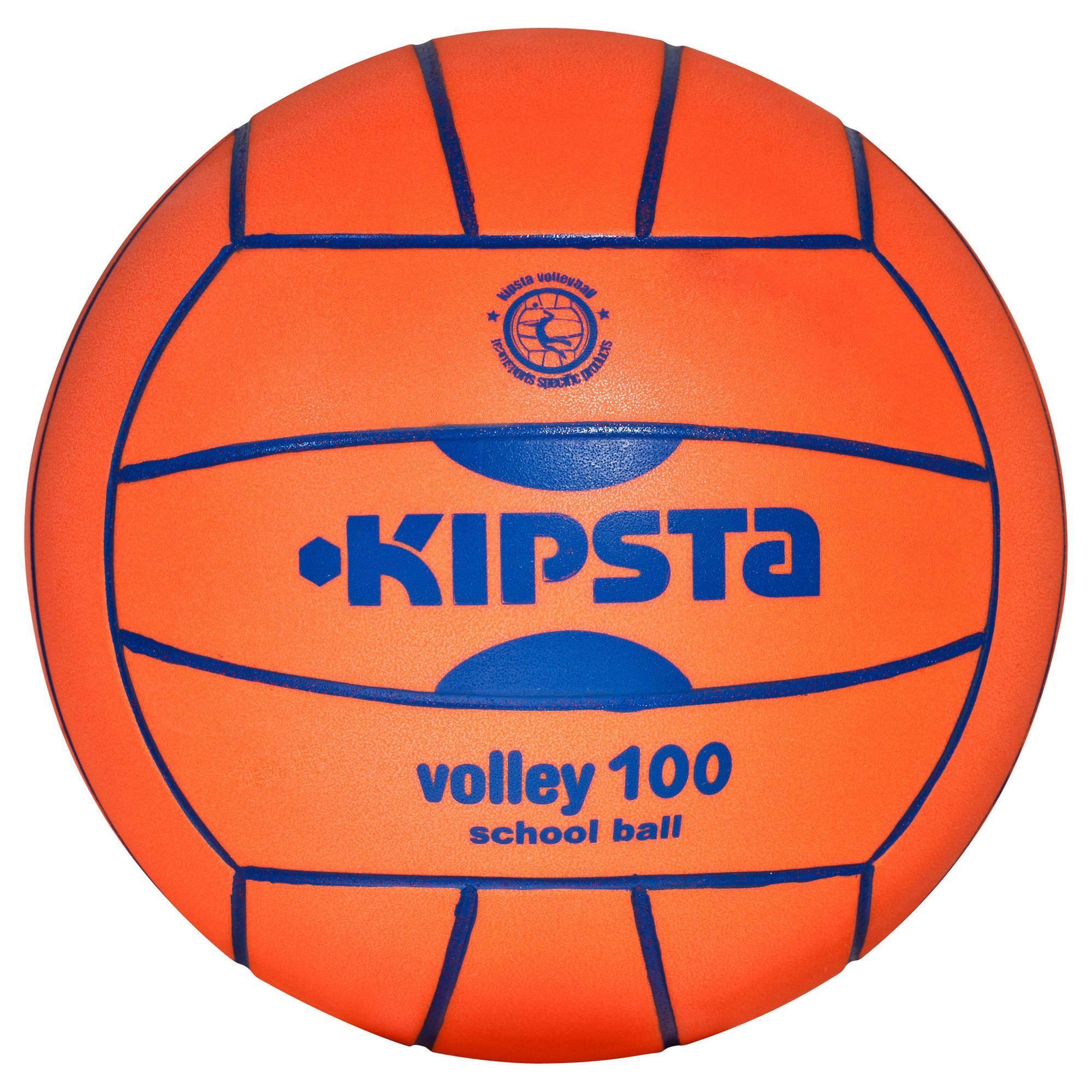 Ballon volleyball intérieur V 100 orange