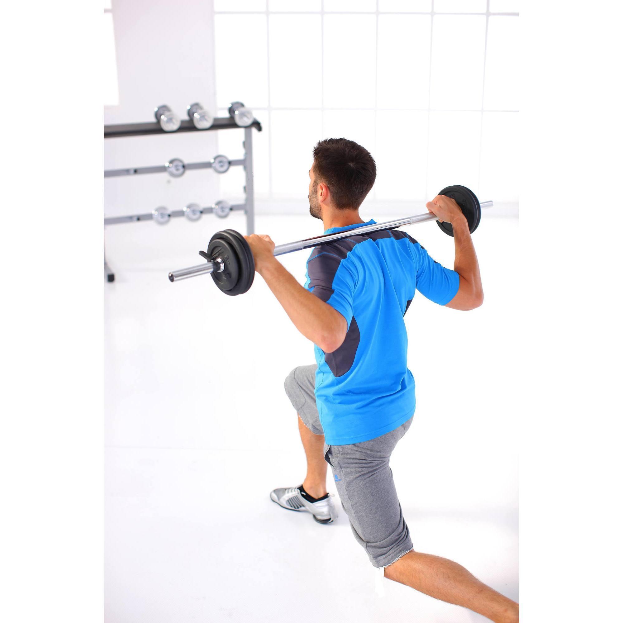 Kit haltères et barres musculation 93 kg