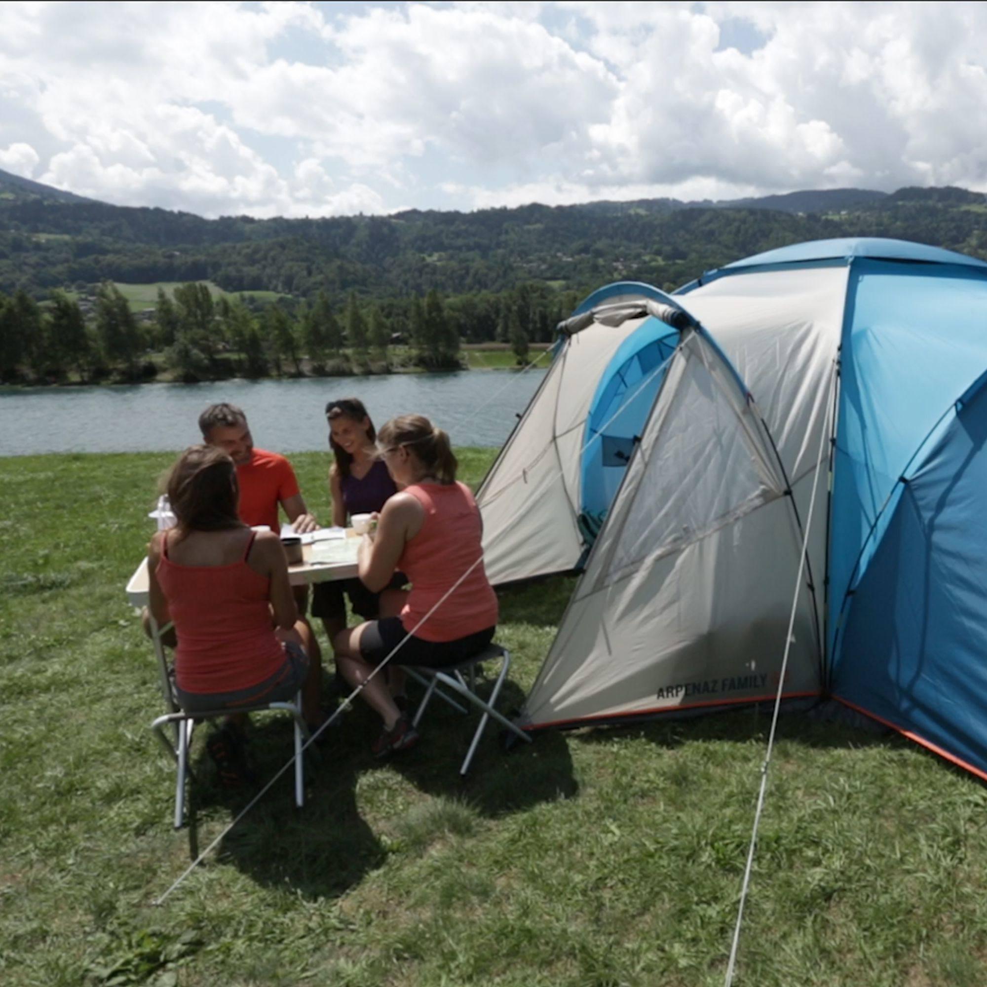 Tente de camping familiale arpenaz 6 3 i 6 personnes clubs collectivit s decathlon pro - Tente camping 3 chambres ...