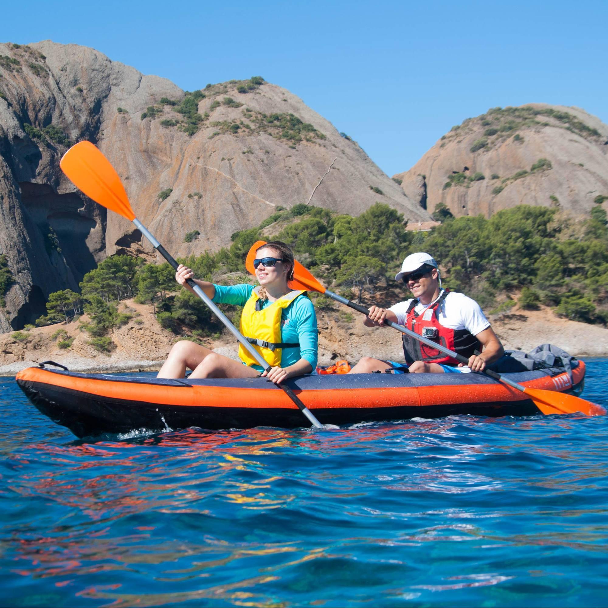 Kayak gonflable 2 3 places new itiwit 3 blue clubs collectivit s de - Canoe gonflable 4 places ...