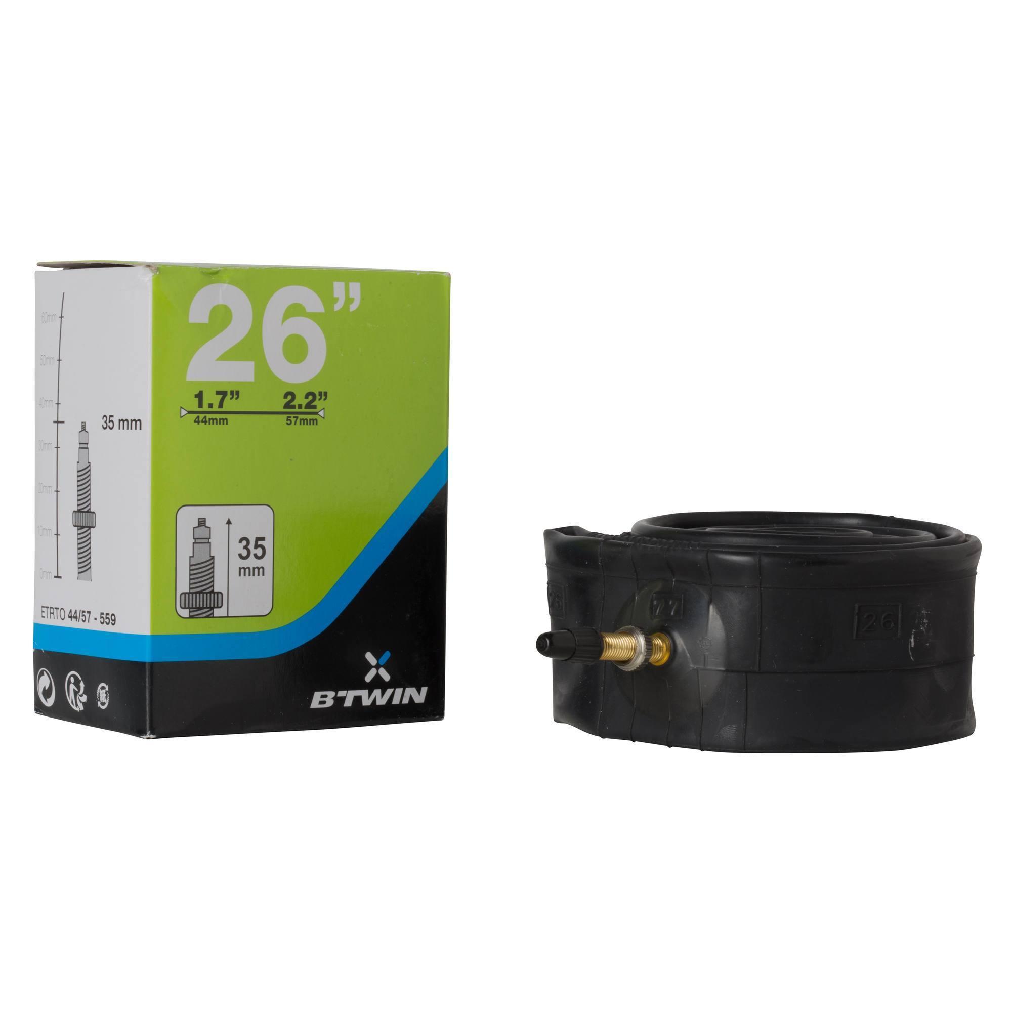 Chambre a air 26x1 7 2 2 valve presta clubs for Chambre a air 26x1 75
