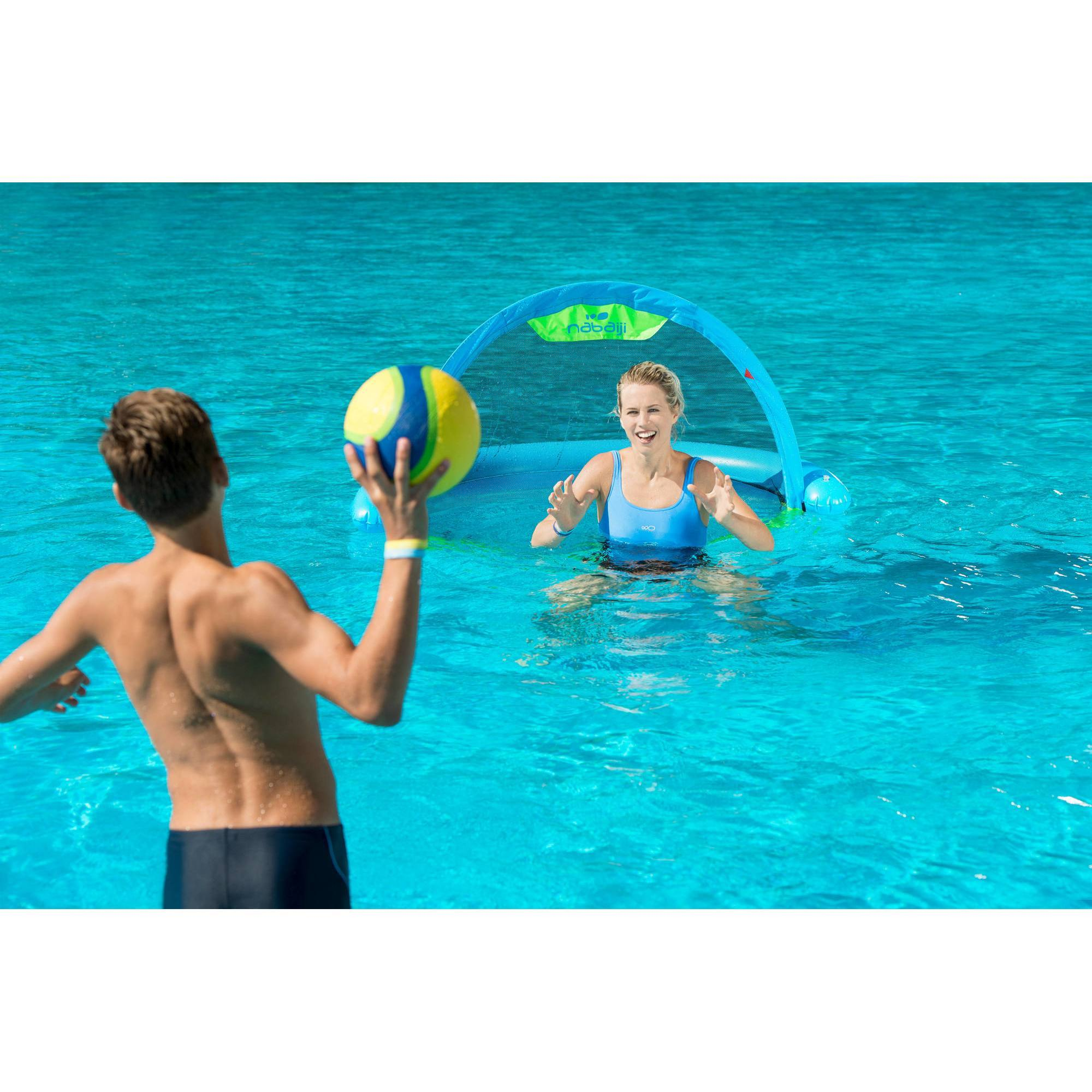 But gonflable waterpolo piscine polo up blue vert clubs for Blue water parts piscine