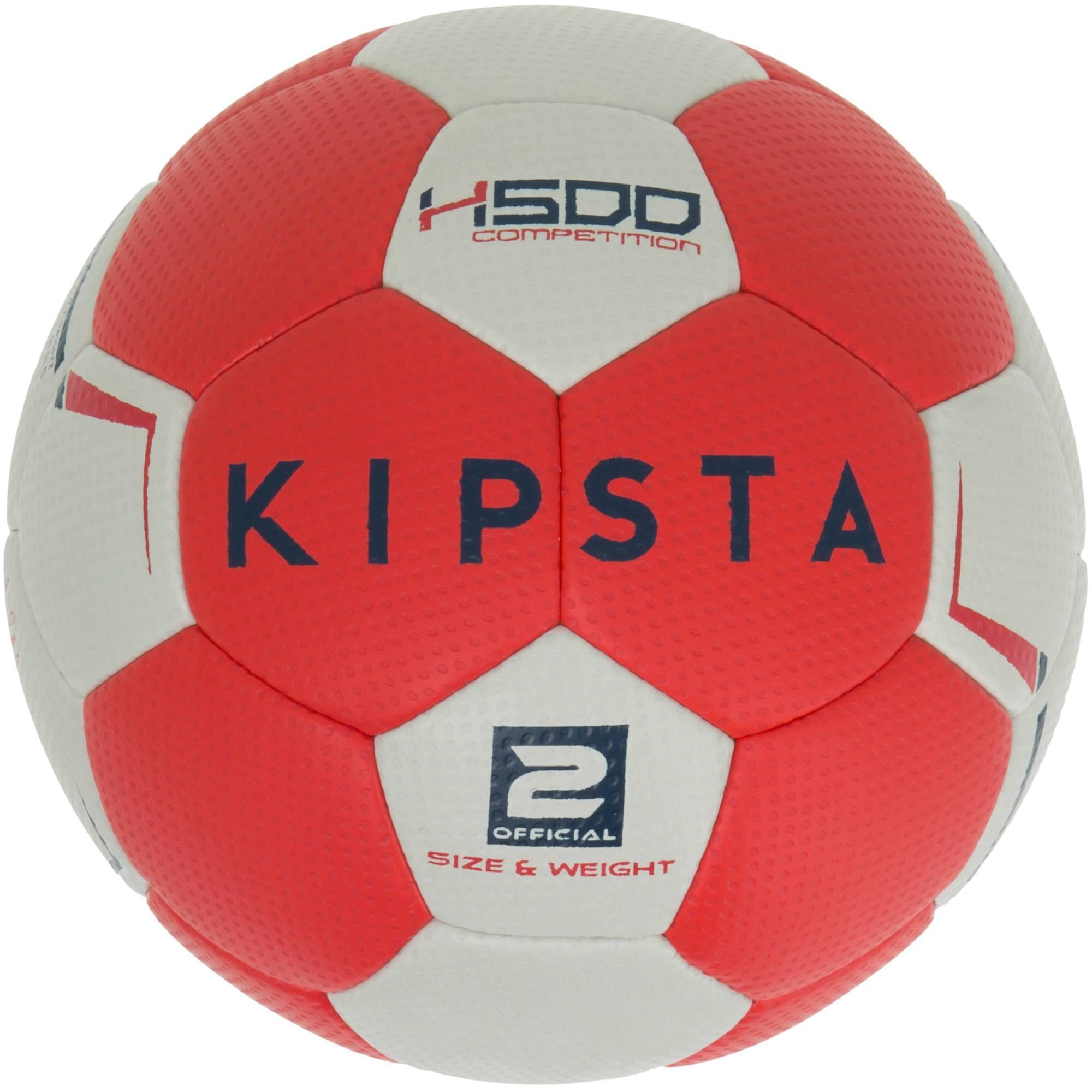 ballon de handball hybride h500 taille 2 rouge et gris. Black Bedroom Furniture Sets. Home Design Ideas
