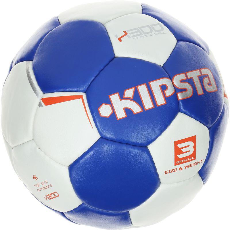 Ballon de handball adulte H300 taille 3 bleu blanc