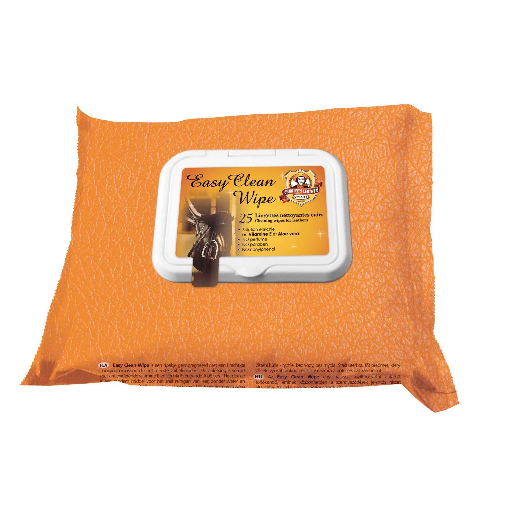 Lingettes équitation pour cuir EASY CLEAN x25