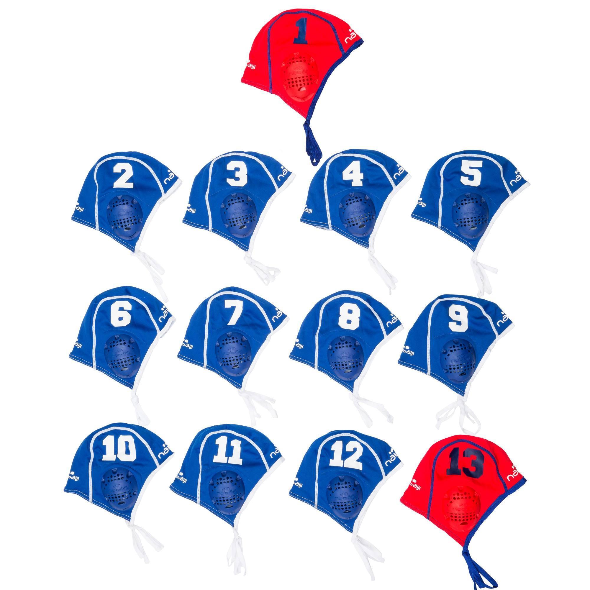 13 bonnets Water Polo adulte entrainement bleu