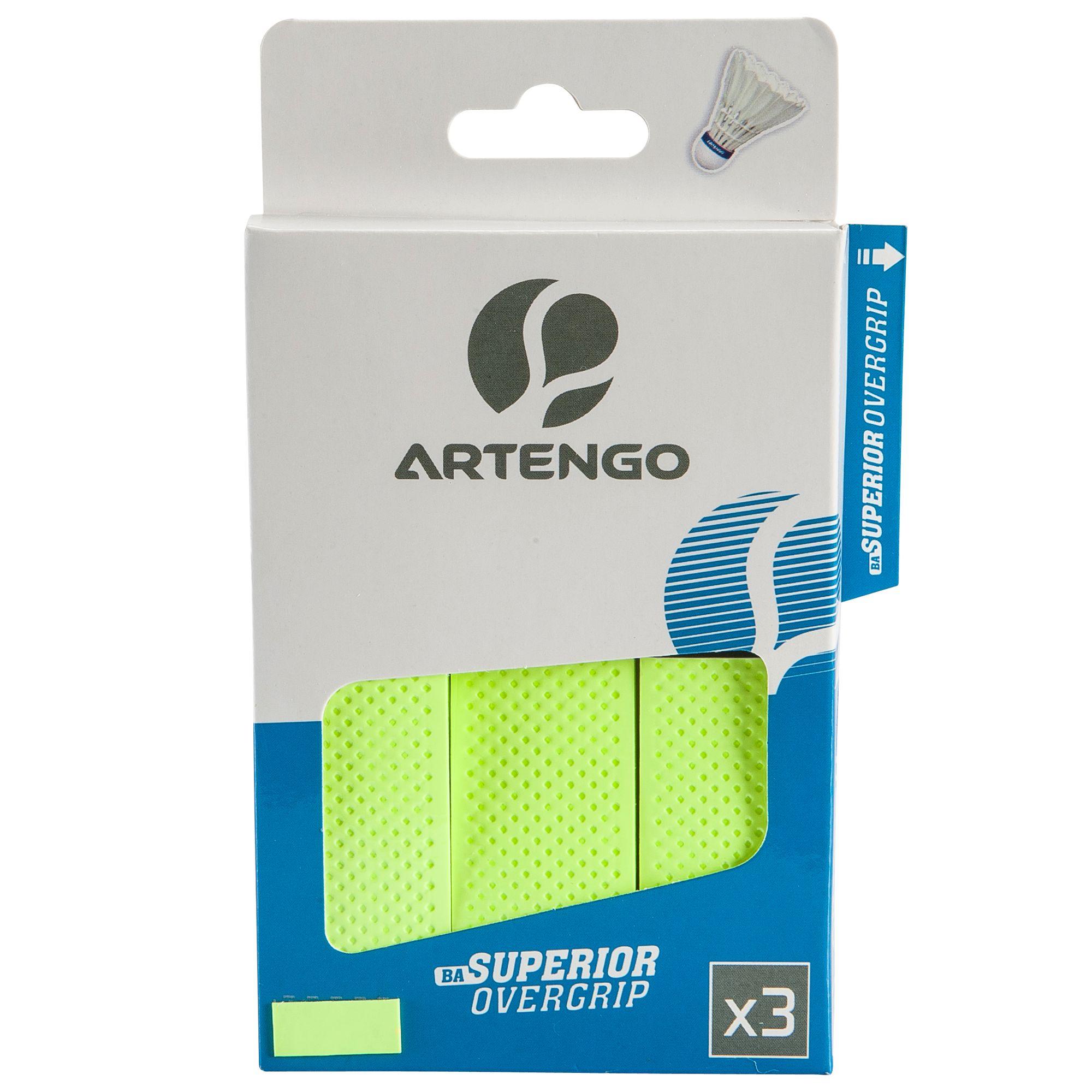 Lot De 3 Surgrips De Badminton Superior Overgrip - Vert