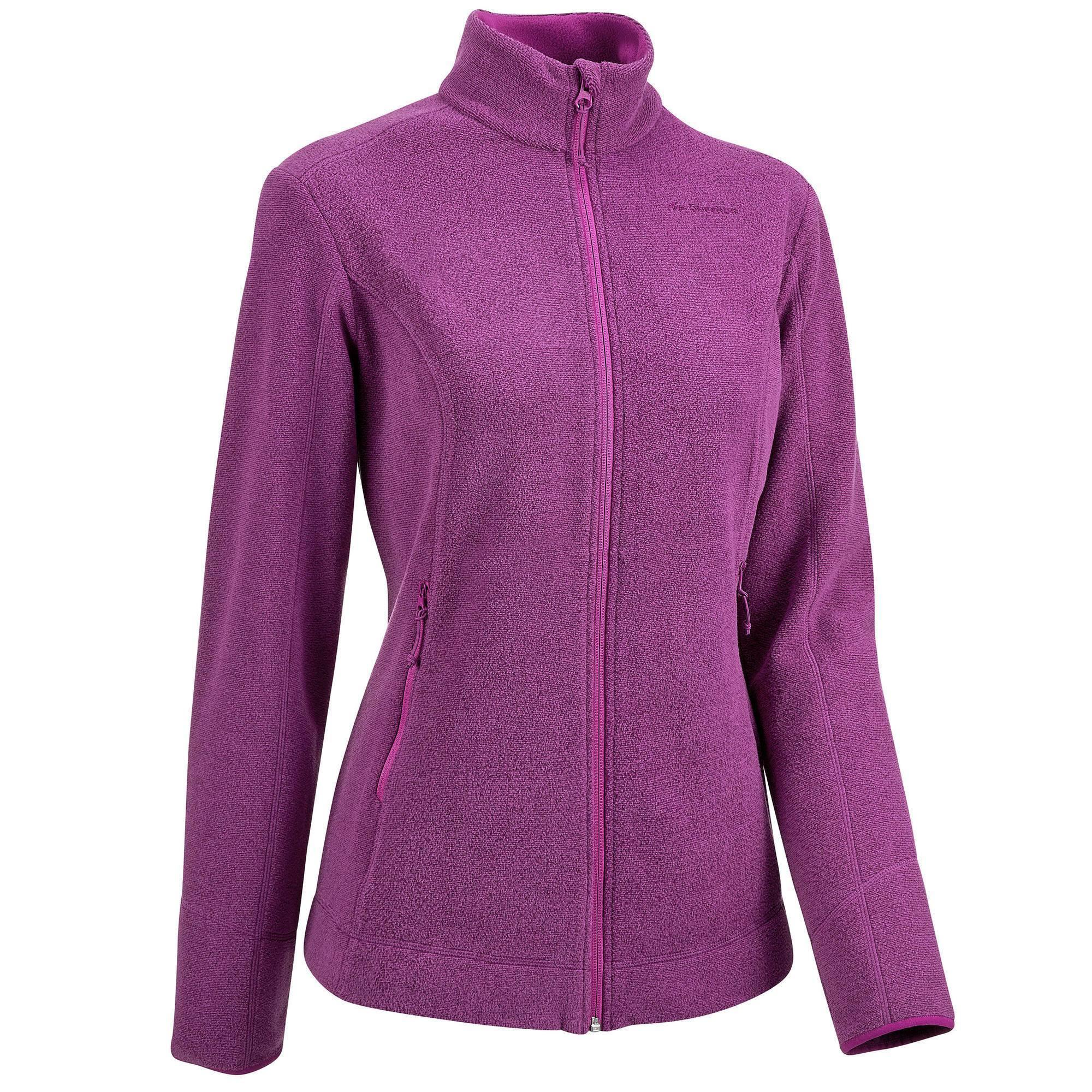 a801b96919bae Veste Polaire de randonnée montagne femme MH120 Violet - Clubs ...