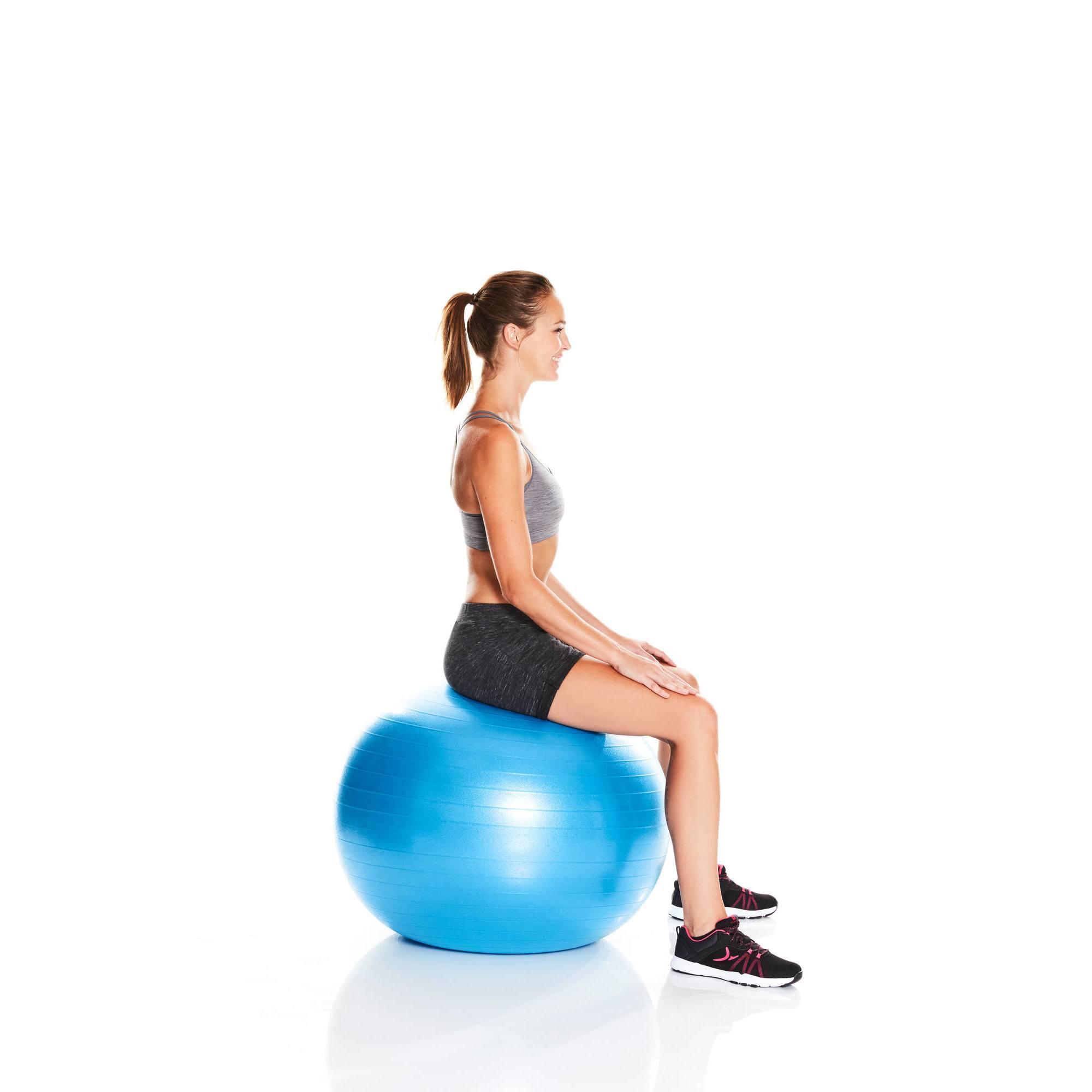 ballon de gym et pilates anti eclatement medium clubs collectivit s decathlon pro. Black Bedroom Furniture Sets. Home Design Ideas