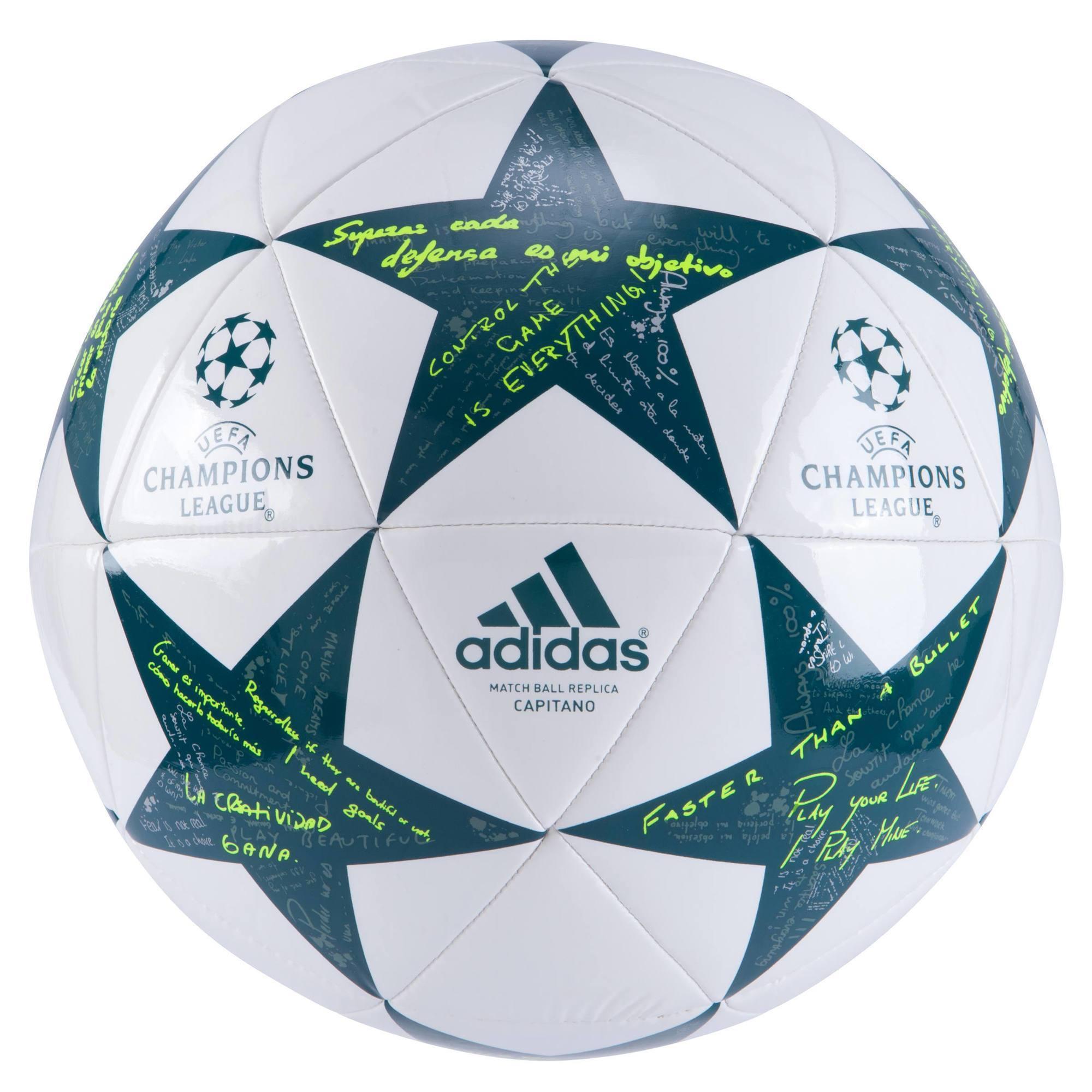 Ballon de football Champion's League Finale Capitano blanc vert