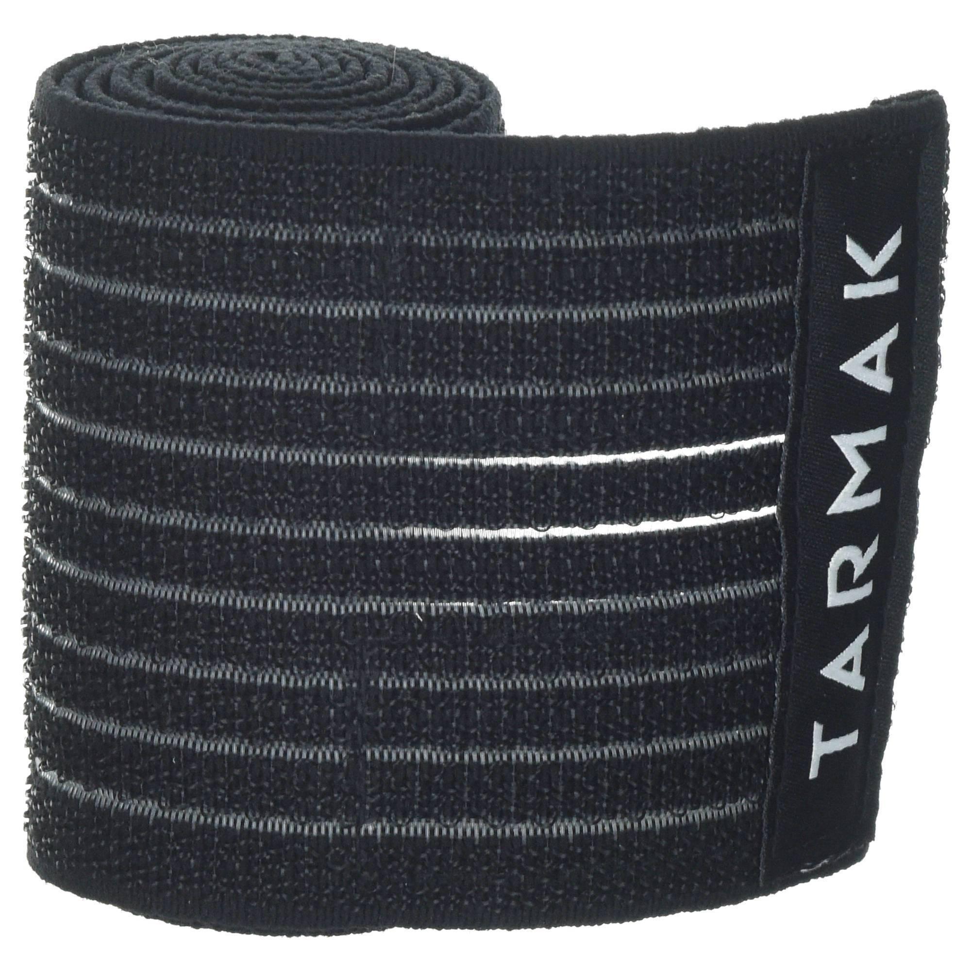 Bande de maintien réutilisable 8 cm x 1,2 m noire