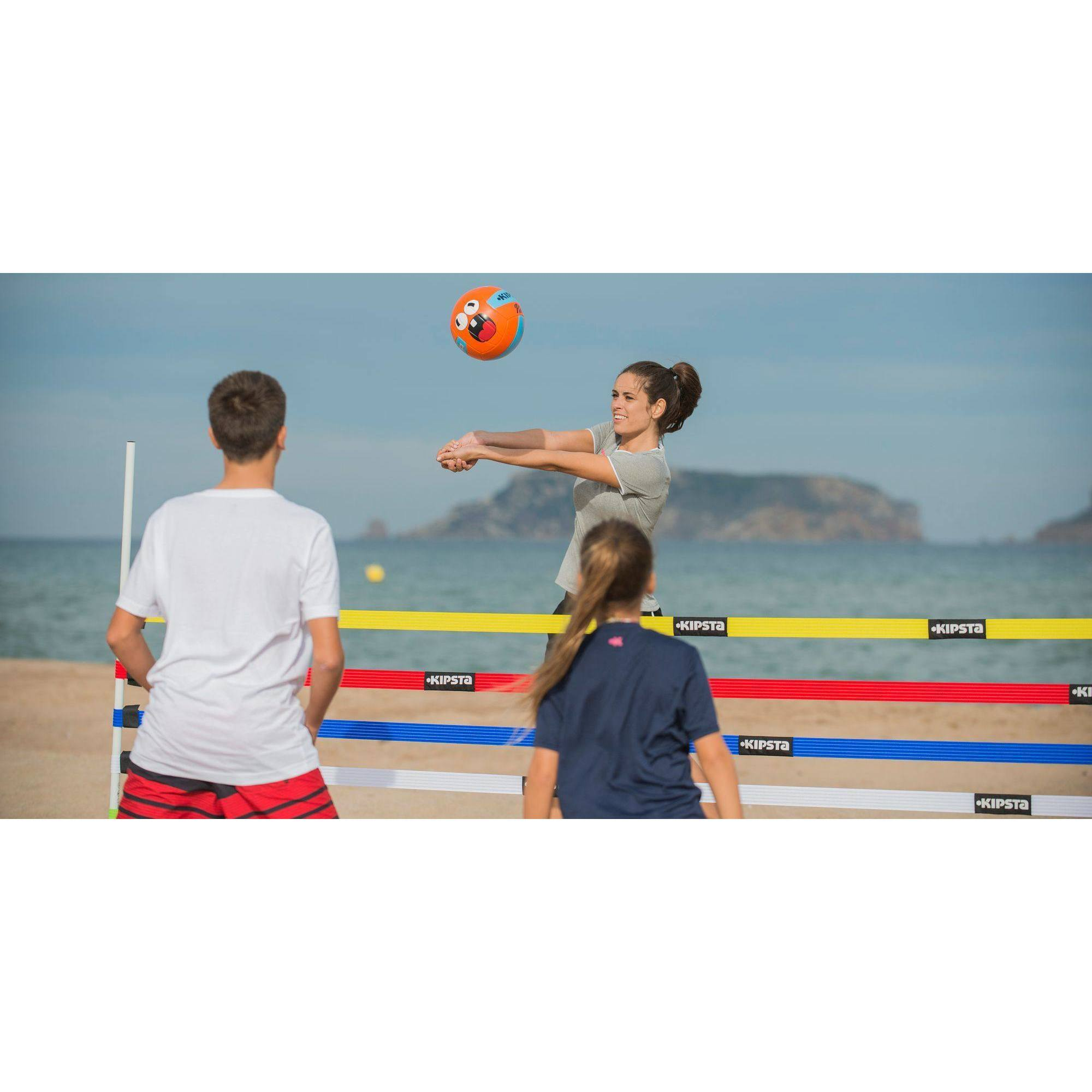 ballon volleyball ext rieur rio face bleu orange clubs collectivit s decathlon pro. Black Bedroom Furniture Sets. Home Design Ideas