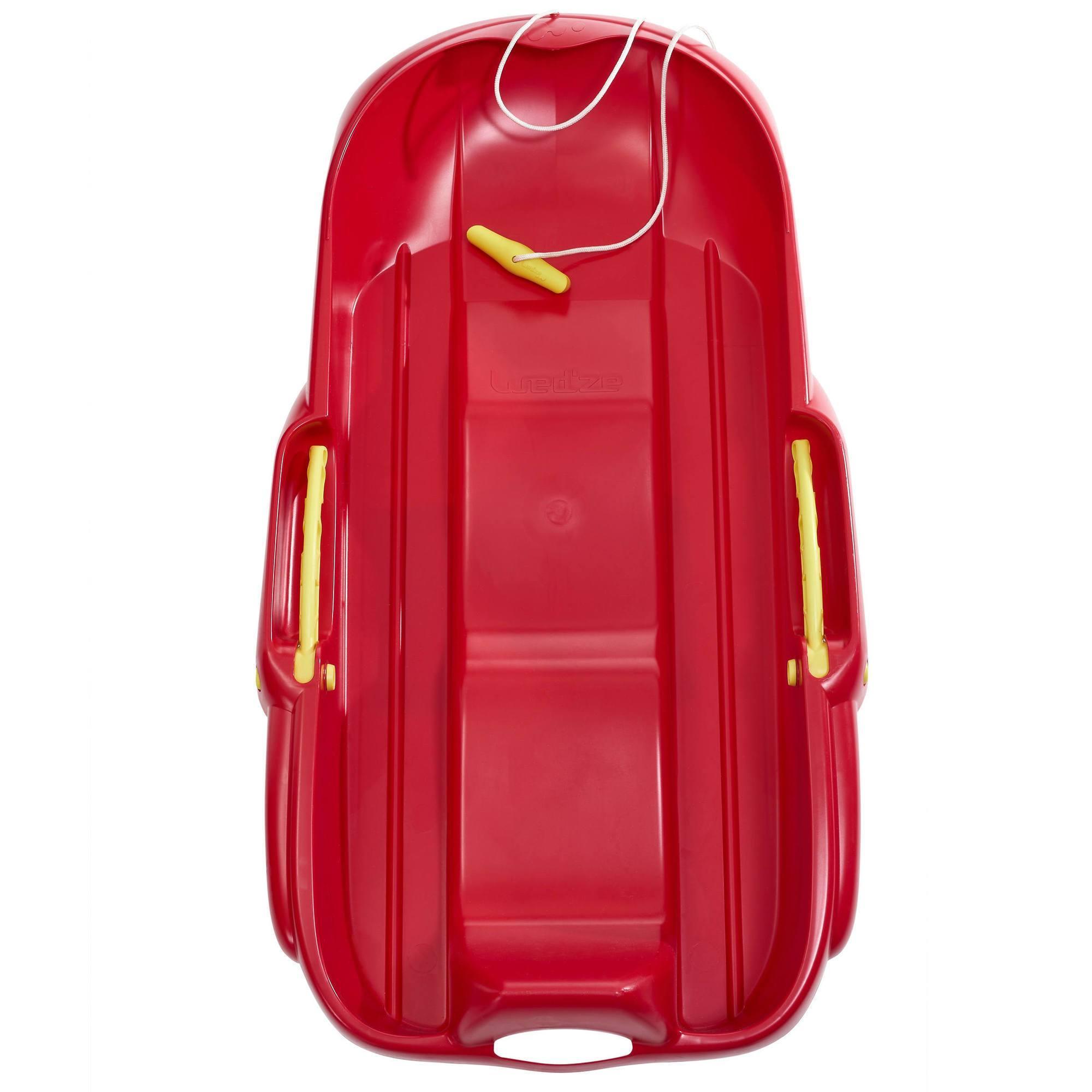Luge biplace avec frein MRZ 100 rouge