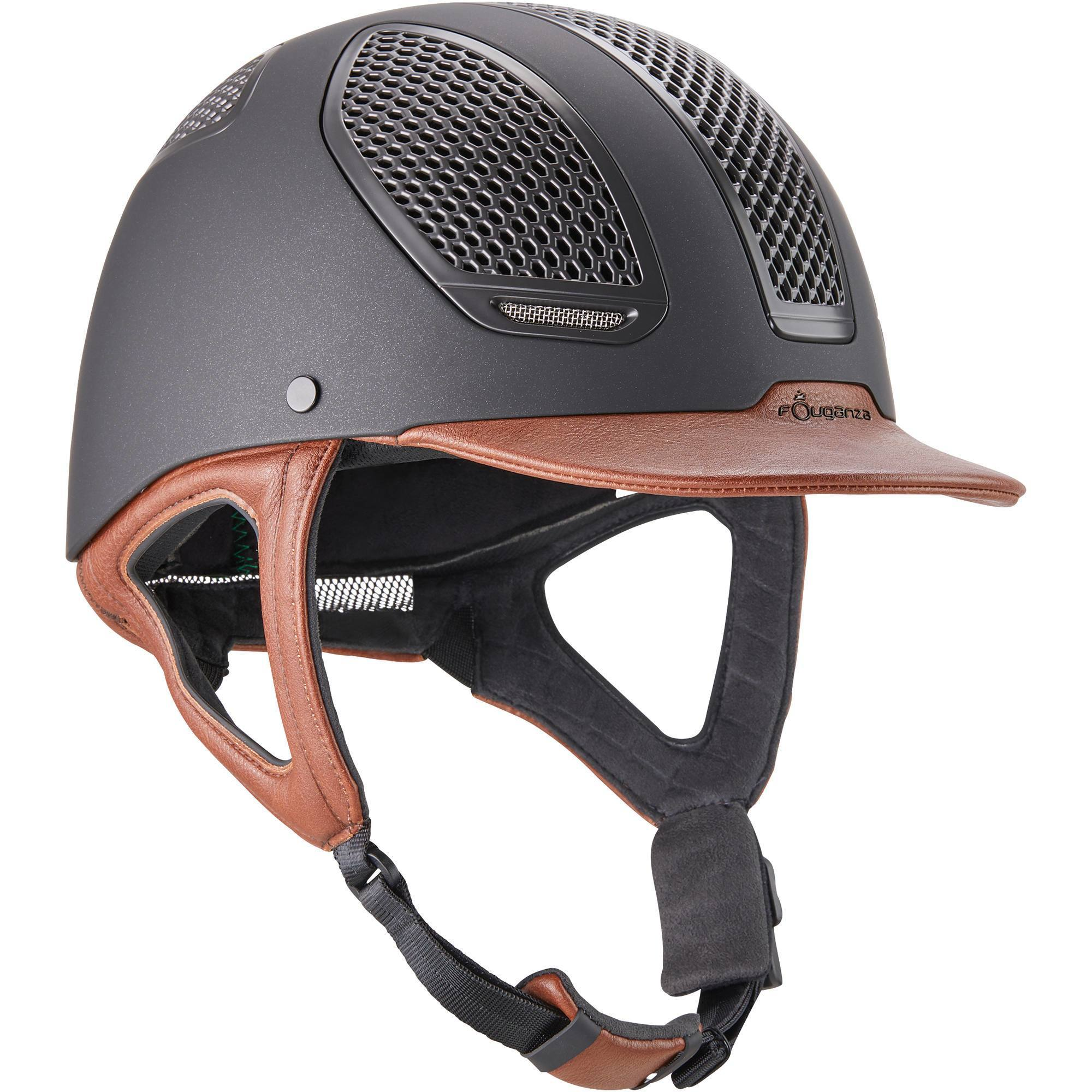 Casque équitation C900 SPORT noir/marron