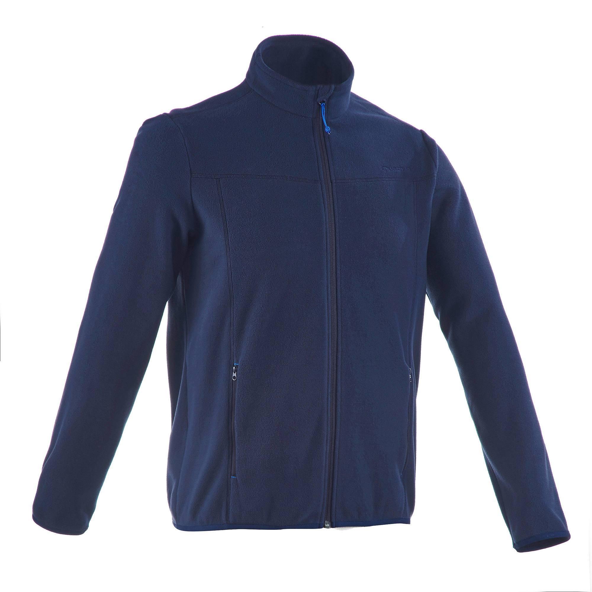 Veste Polaire randonnée montagne homme Forclaz 200 bleu