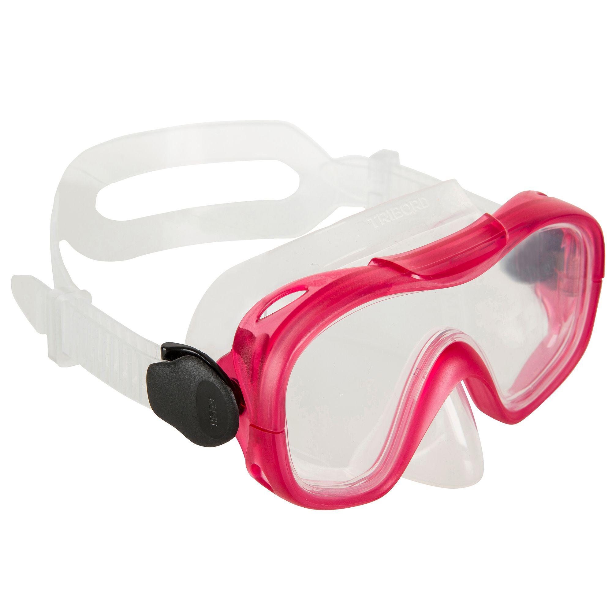 Masque de plongée ou de snorkeling 100 adulte enfant Rose