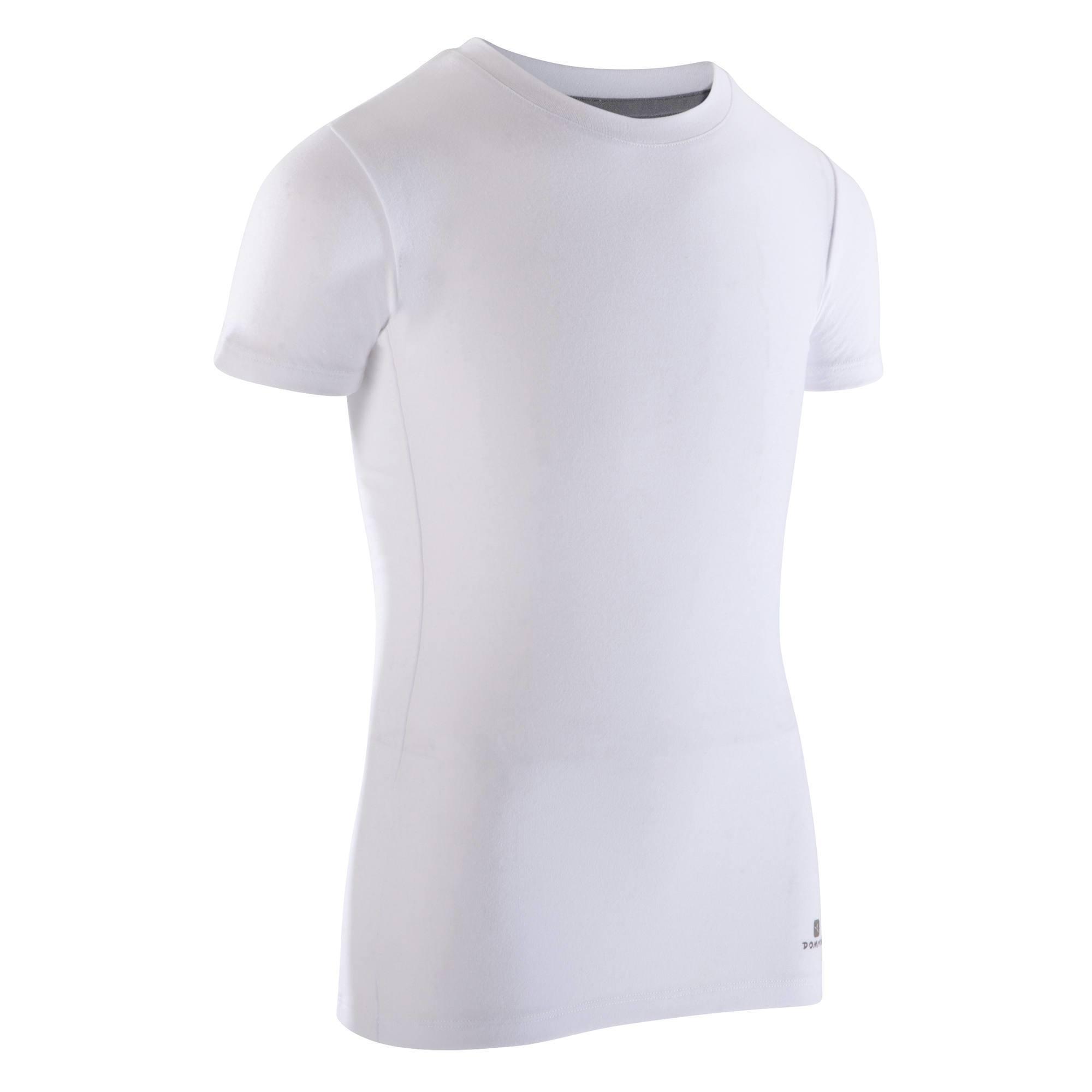 T-shirt manches courtes blanc de danse garçon