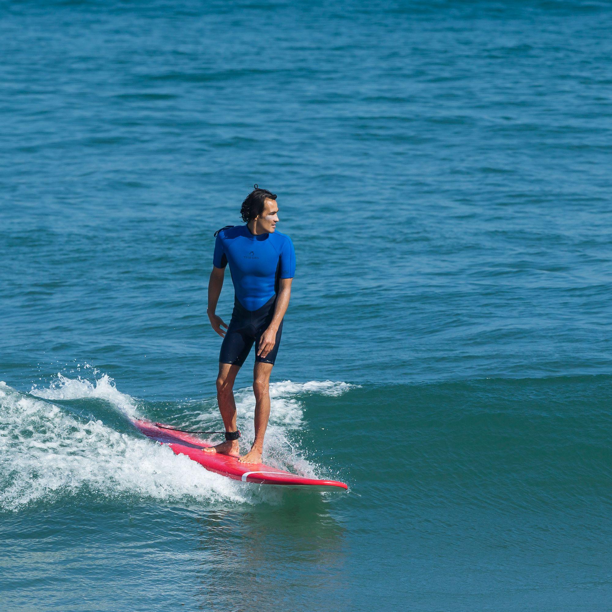 planche de surf en mousse 100 8 39 6 livr e avec un leash et 3 ailerons clubs collectivit s. Black Bedroom Furniture Sets. Home Design Ideas