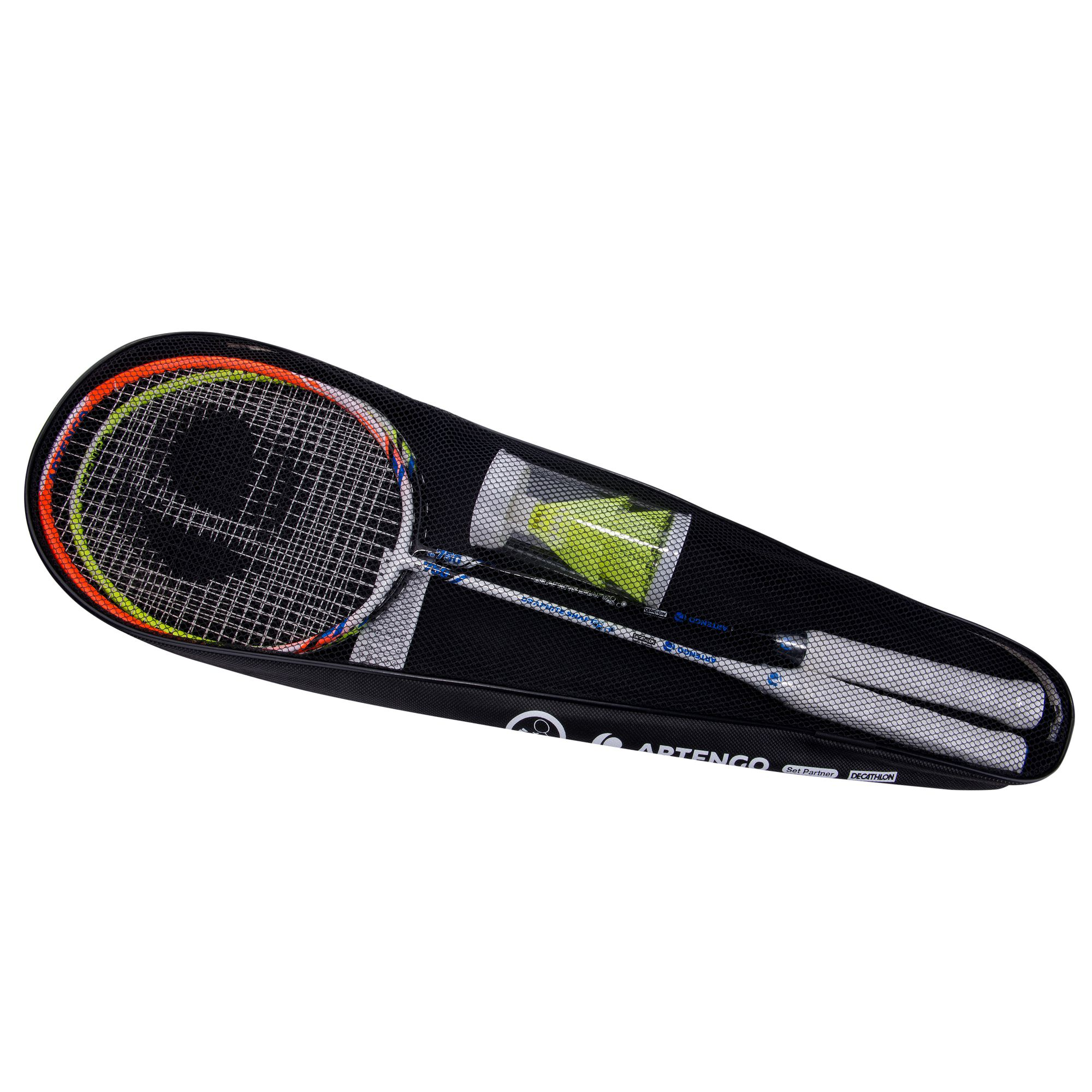 SET RAQUETTES DE BADMINTON - SET PARTNER - ORANGE -