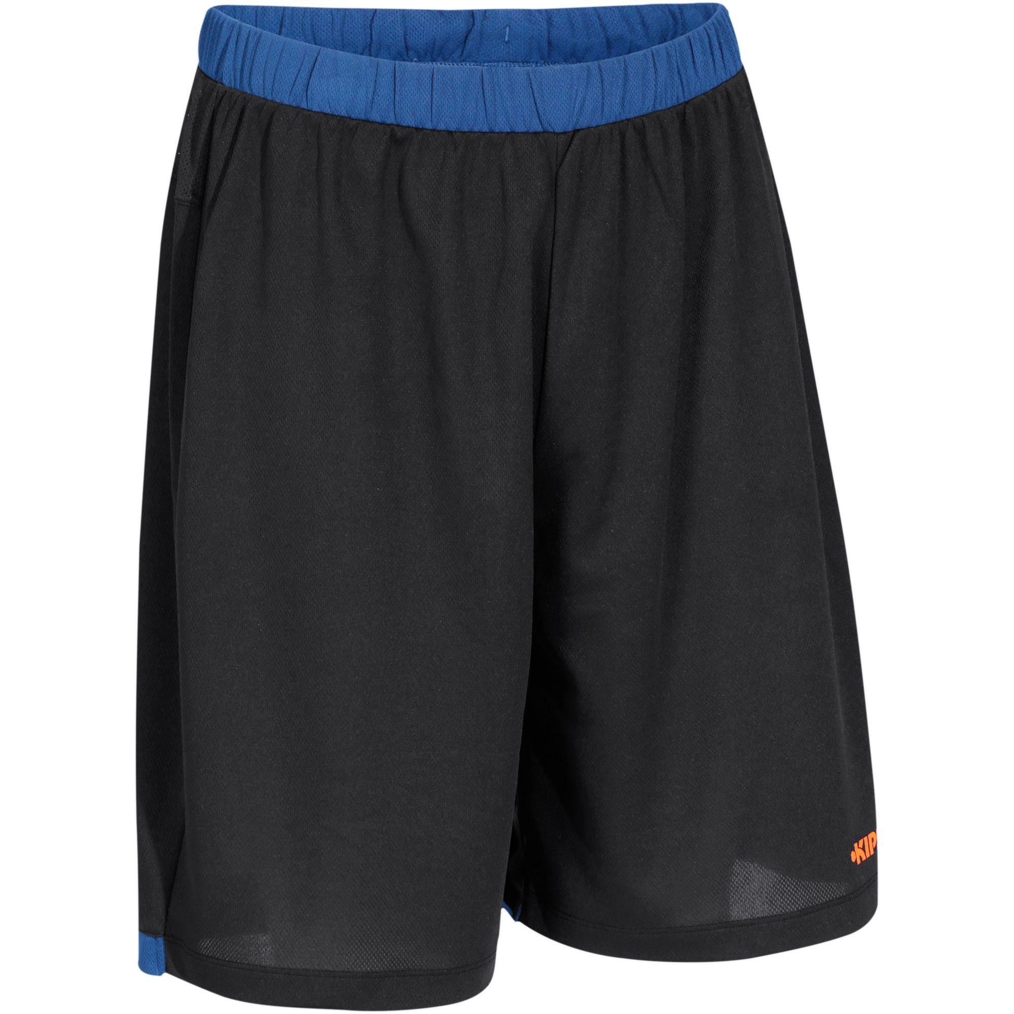Short basketball homme B500 navy noir orange