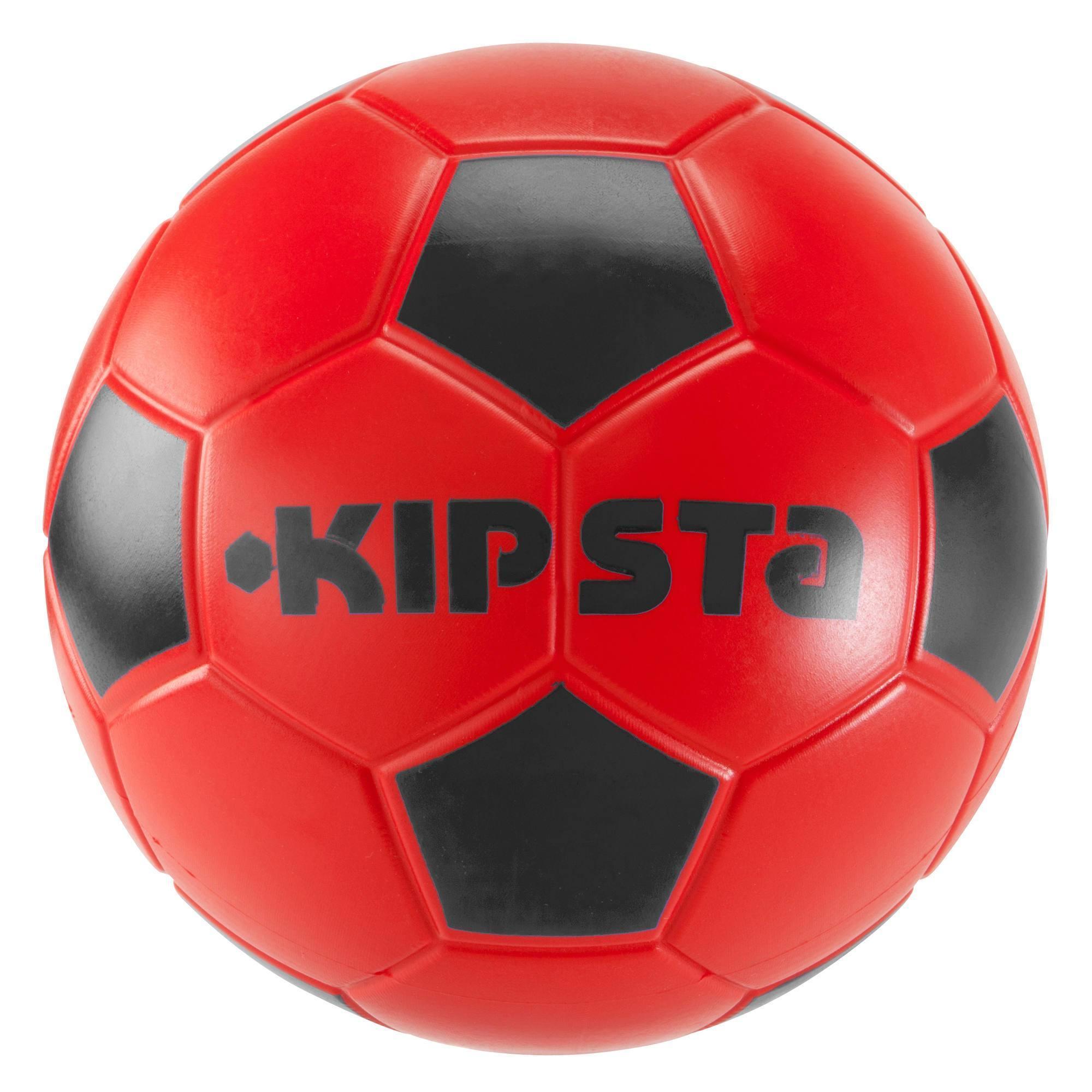 Ballon de football Wizzy 500 taille 4 rouge bleu